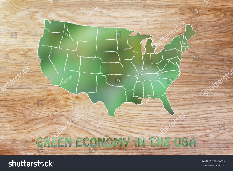 Environmental Awareness Throughout World Map Usa Stock