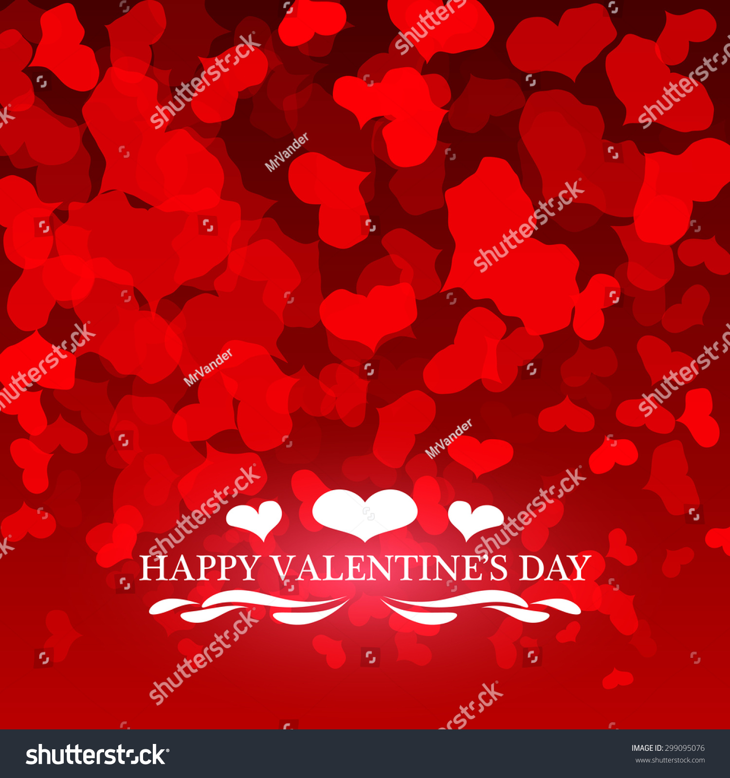 Happy Valentines Day Card Hearts Light Vector 299095076 – Happy Valentines Day Cards