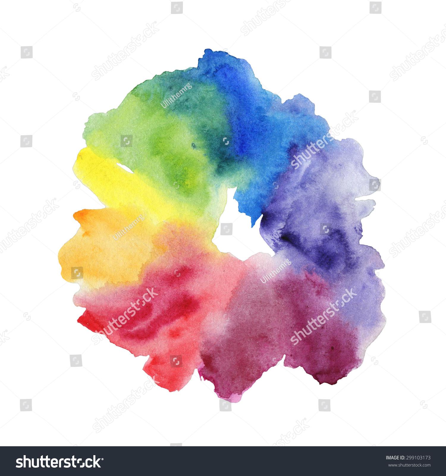 Watercolor Color Wheel Stock Illustration 299103173