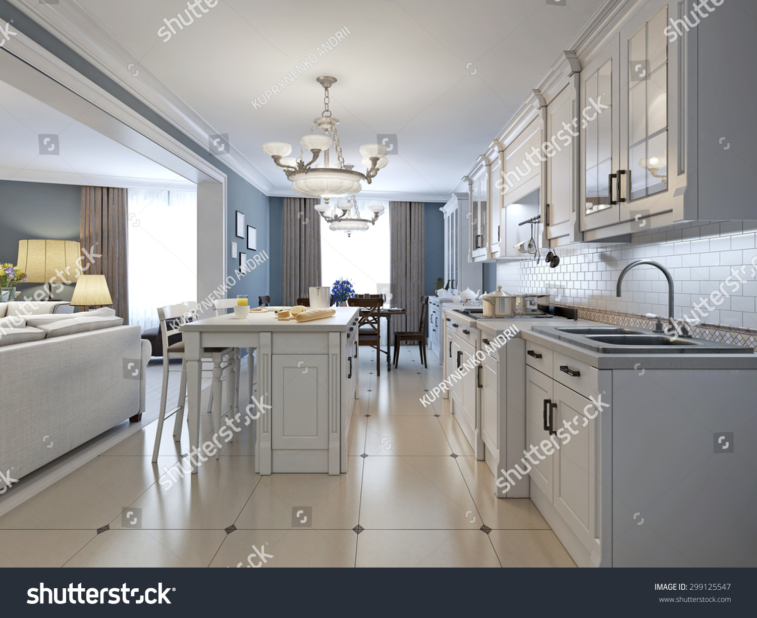 White Kitchen Stainless Steel Appliances kitchen stainless steel appliances white cabinets stock