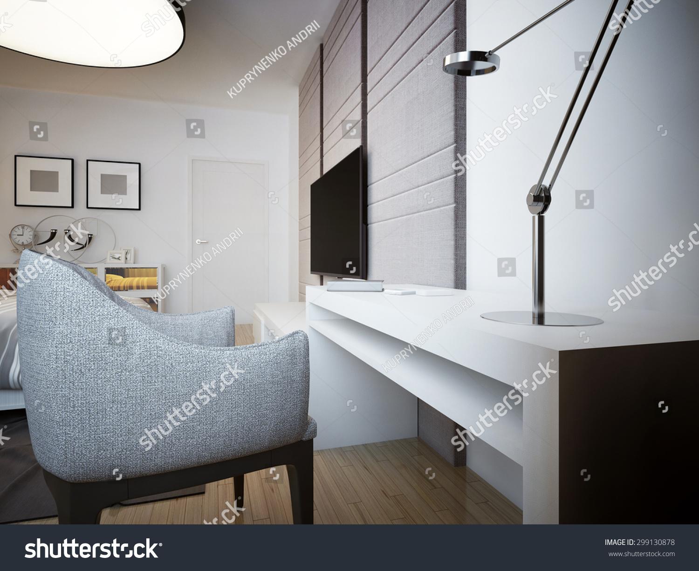 Simple Reading Table Trendwhite Strict Desk Stock Illustration  # Table Tv Simple
