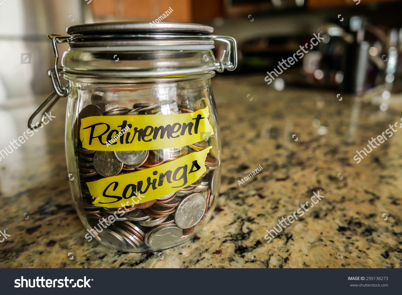 Retirement Savings Money Jar Clear Glass Stock Photo 299138273 Shutterstock