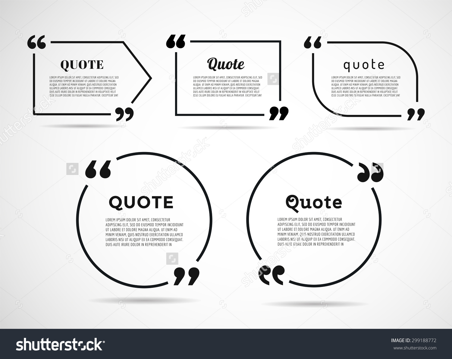 quote blank template stock vector illustration  quote blank template preview save to a lightbox