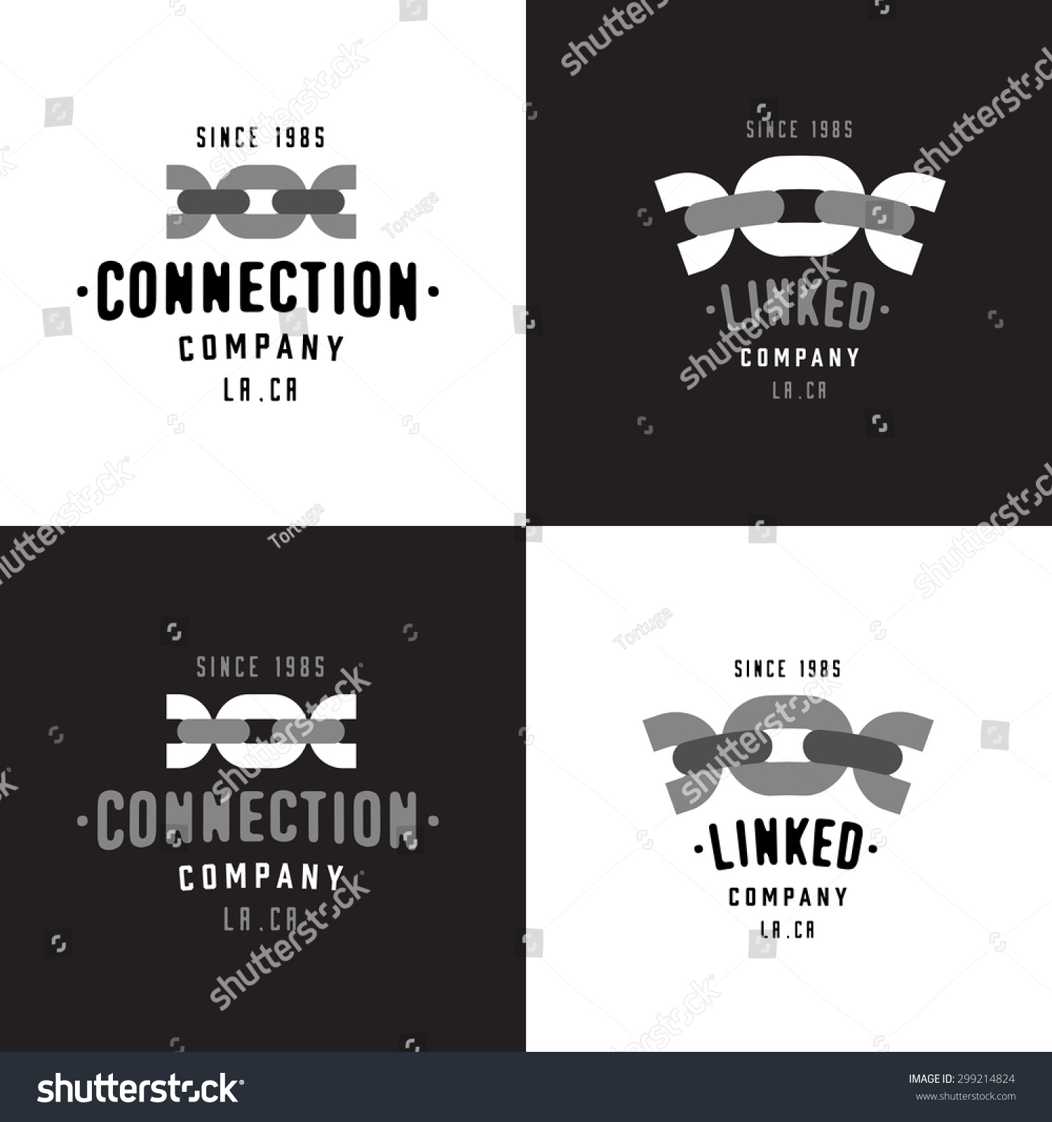 Set Chain Symbol Badges Conveys Such Stock Vector Royalty Free