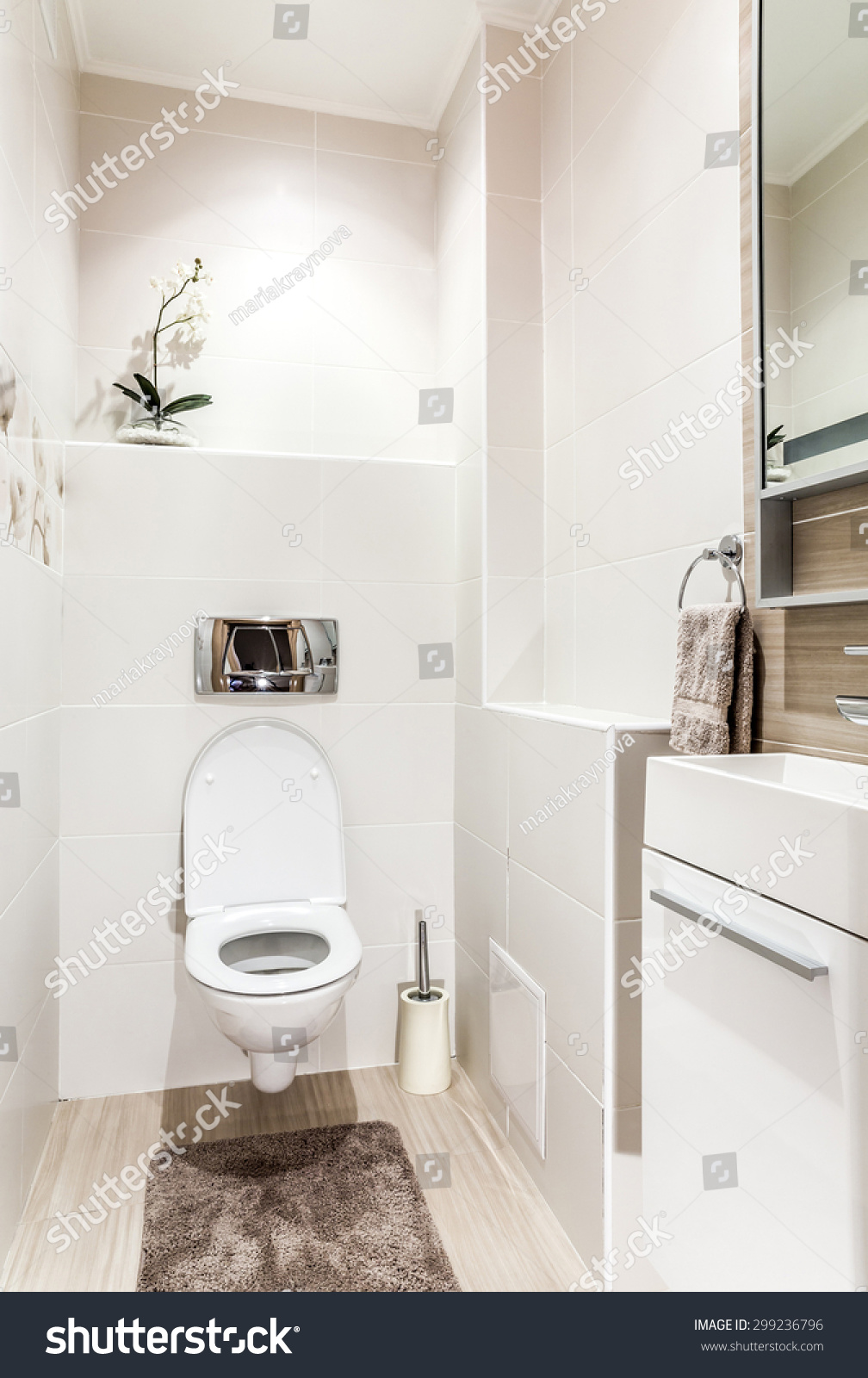 Bathroom toilet modern style stock photo 299236796 for Washroom style