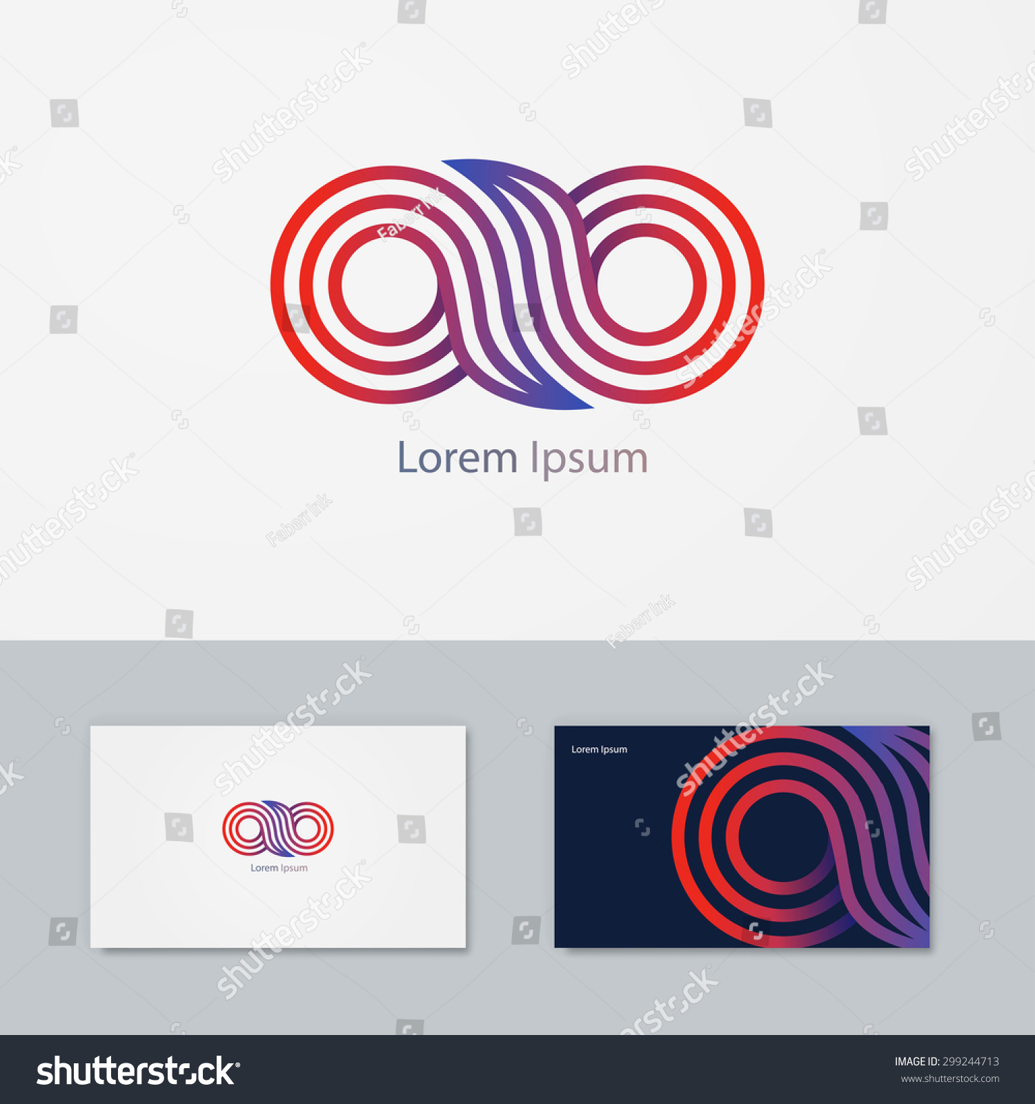 abstract vector logo business card vector stock vector