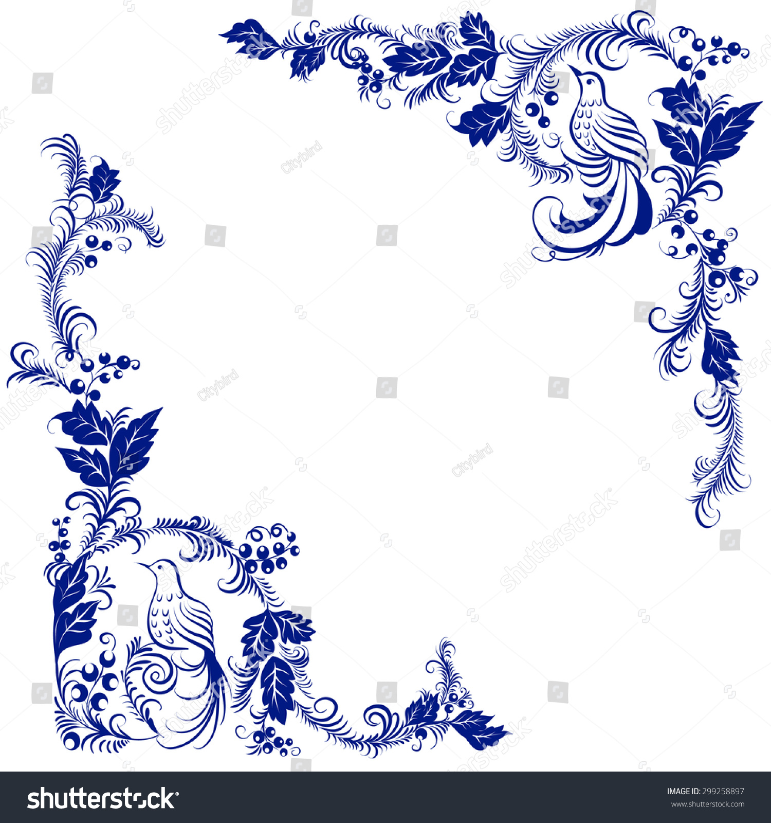Traditional Russian Folk Ornament Isolated Stock Vector 2018
