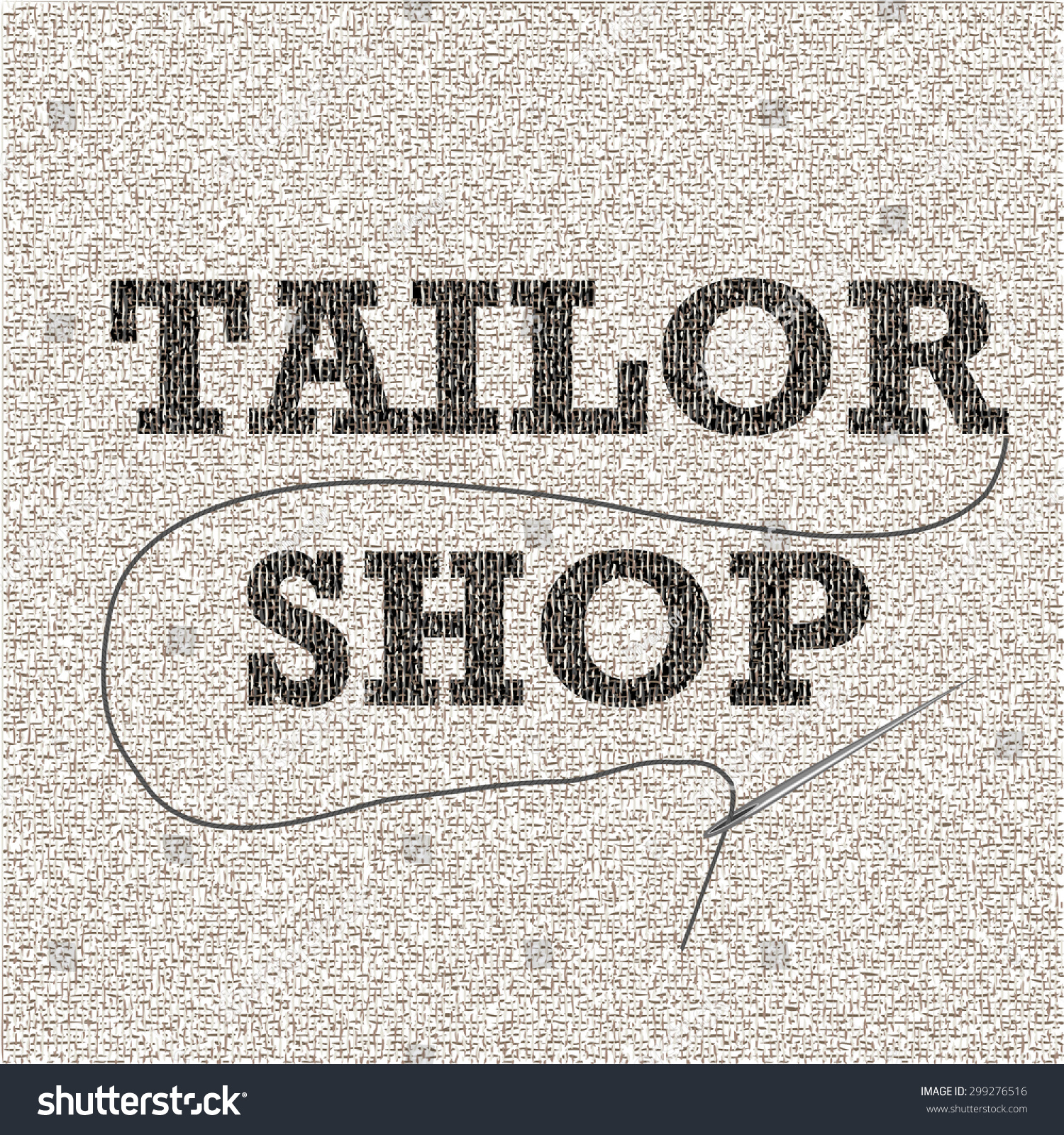 Tailor shop vector banner sewing shop stock vector 299276516 tailor shop vector banner for sewing shop designed with fabric threads and stitches magicingreecefo Image collections