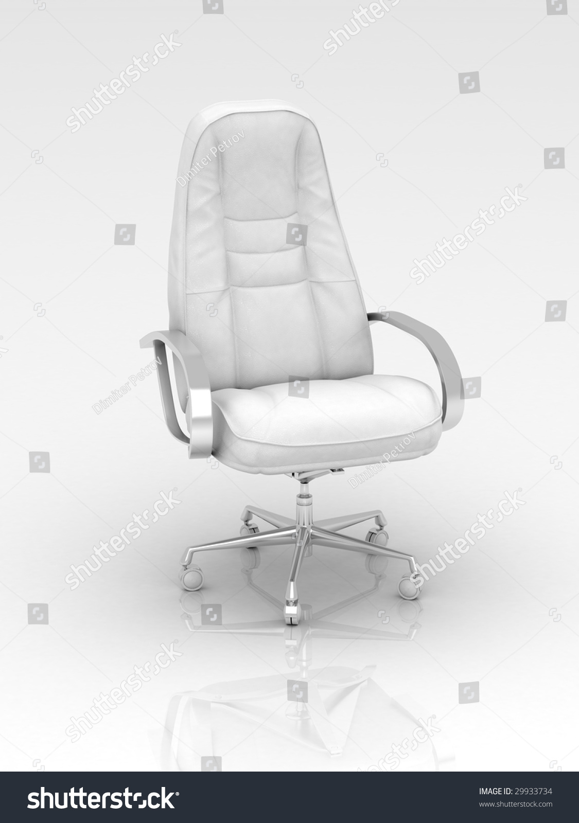 White leather office chair stock photo 29933734 shutterstock