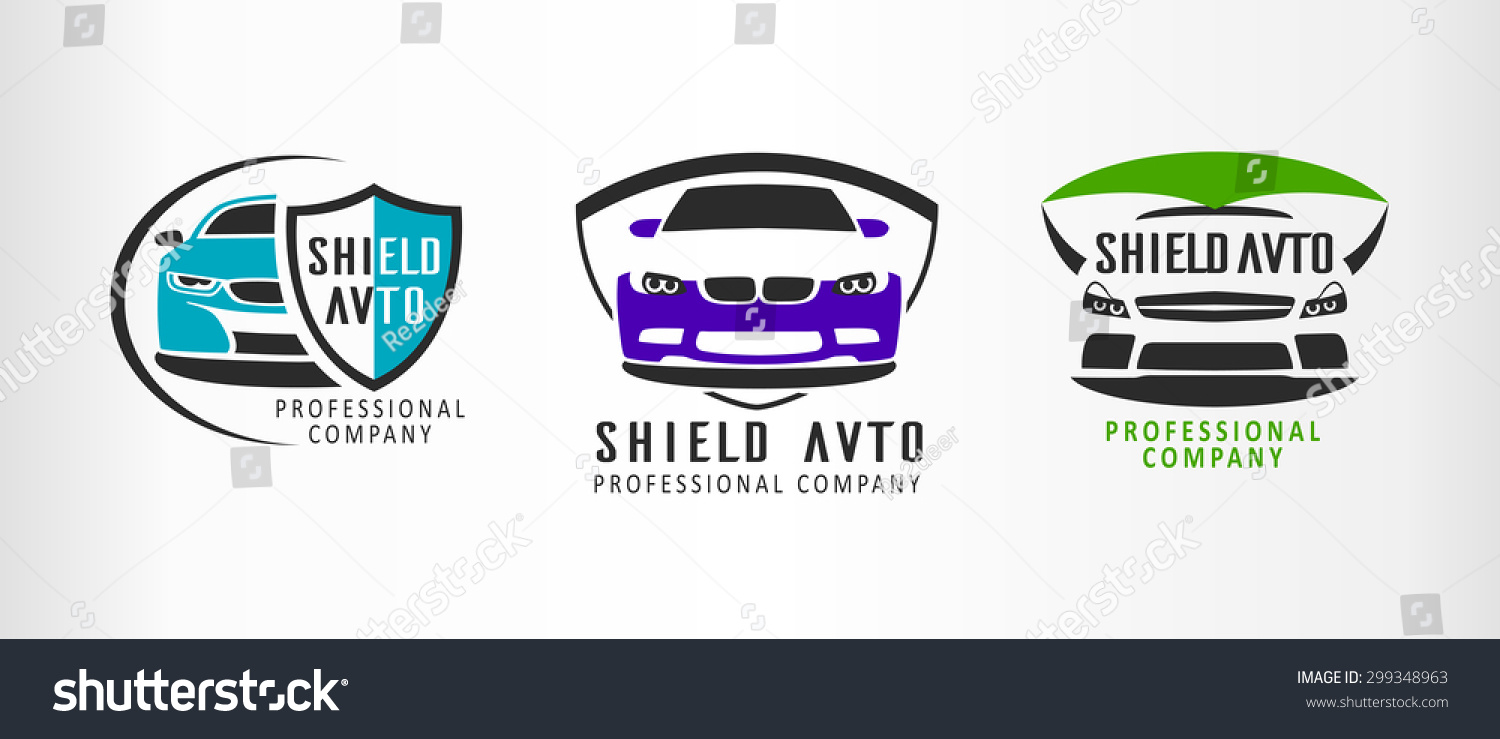 Set Logo Sport Car Emblems Design Stock Vector 299348963 ...