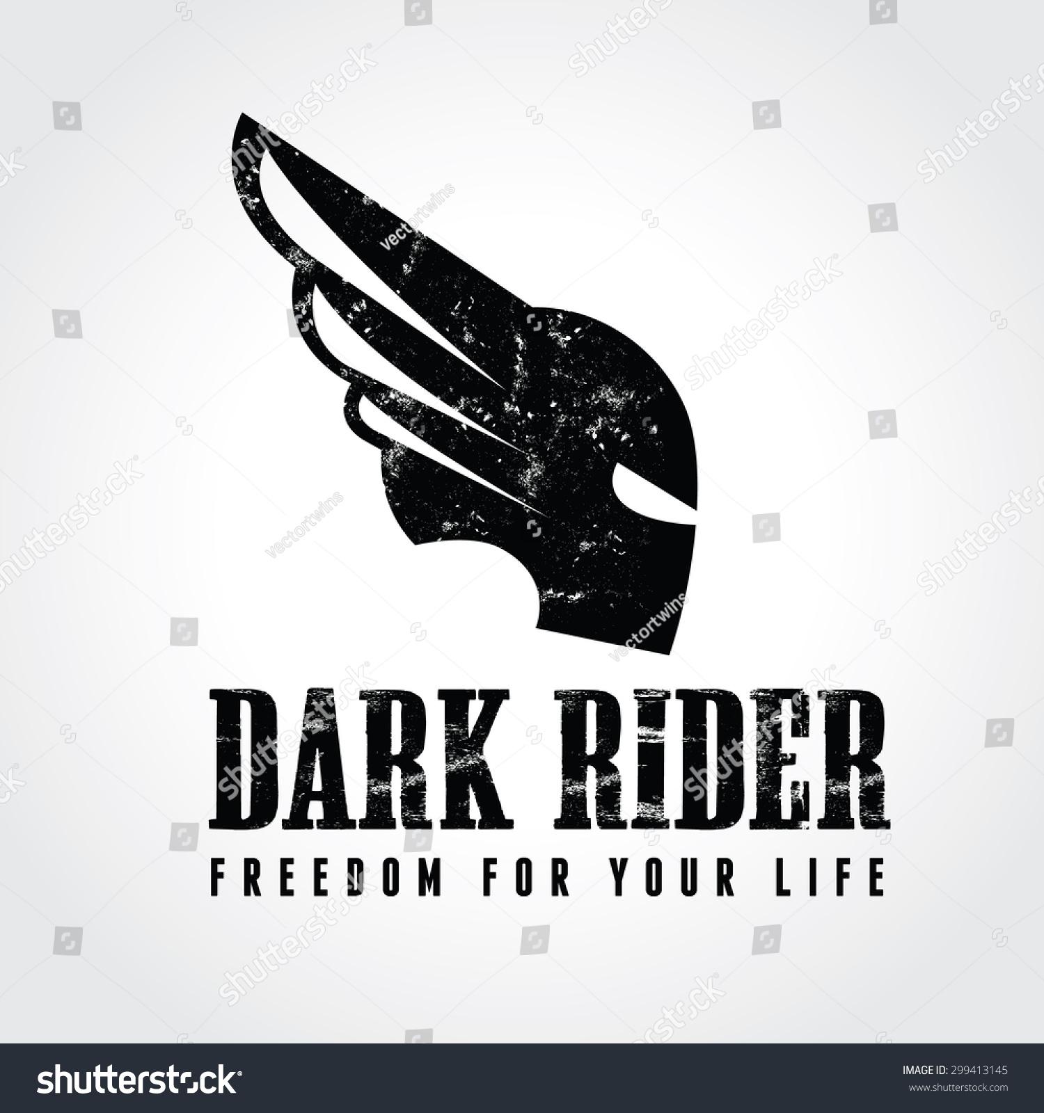 Design car club logo - Dark Rider Warrior Army Car Bike Head Sports Club