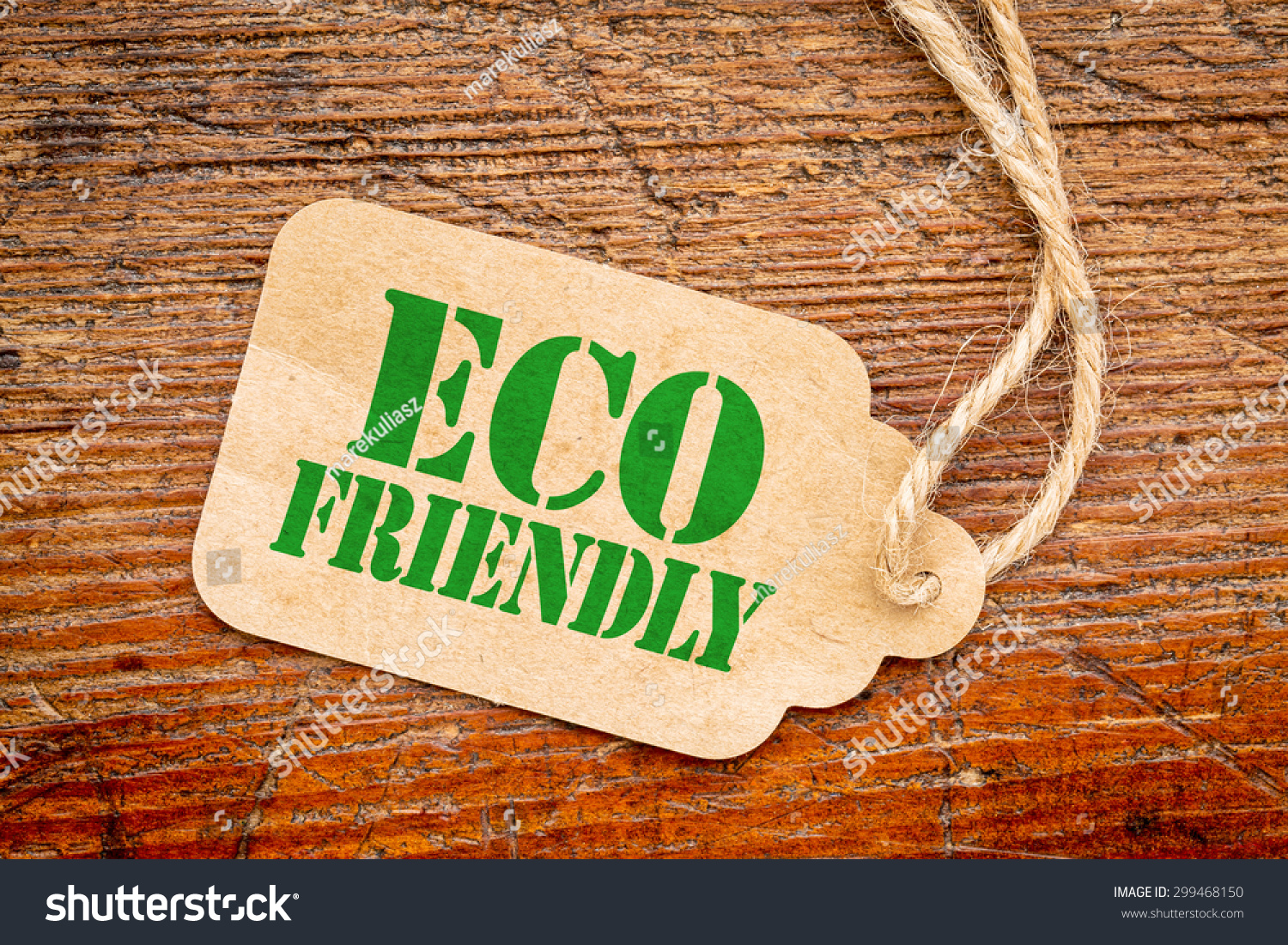 Eco Friendly Sign Paper Price Tag Stock Photo 299468150