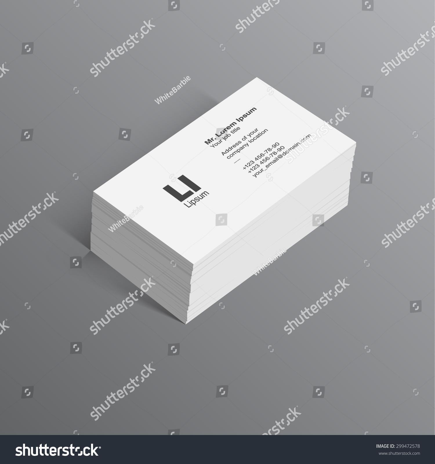 Business Card Template Vector Set Black Stock Vector 299472578 ...