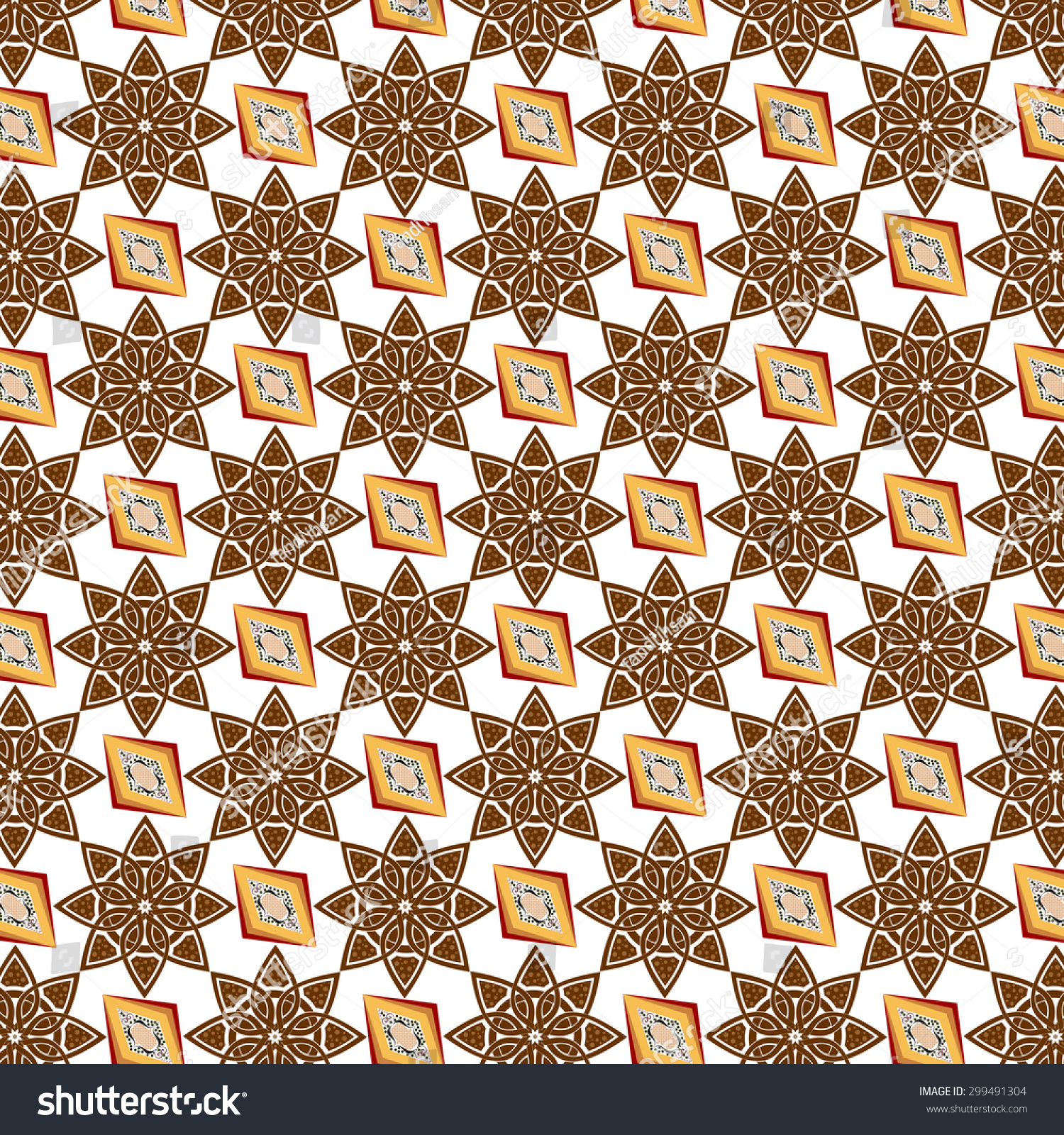 Batik Indonesian Batik Pattern Batik Background Stock