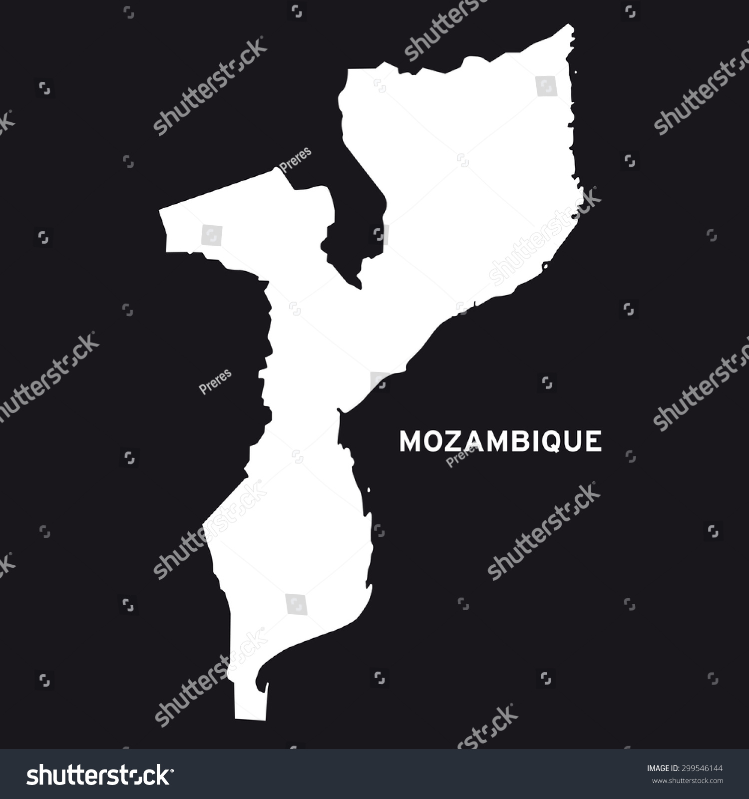 Africa Map Mozambique%0A Mozambique Map Vector Stock Vector           Shutterstock Stock Vector Mozambique  Map Vector           Mozambique Map Vector