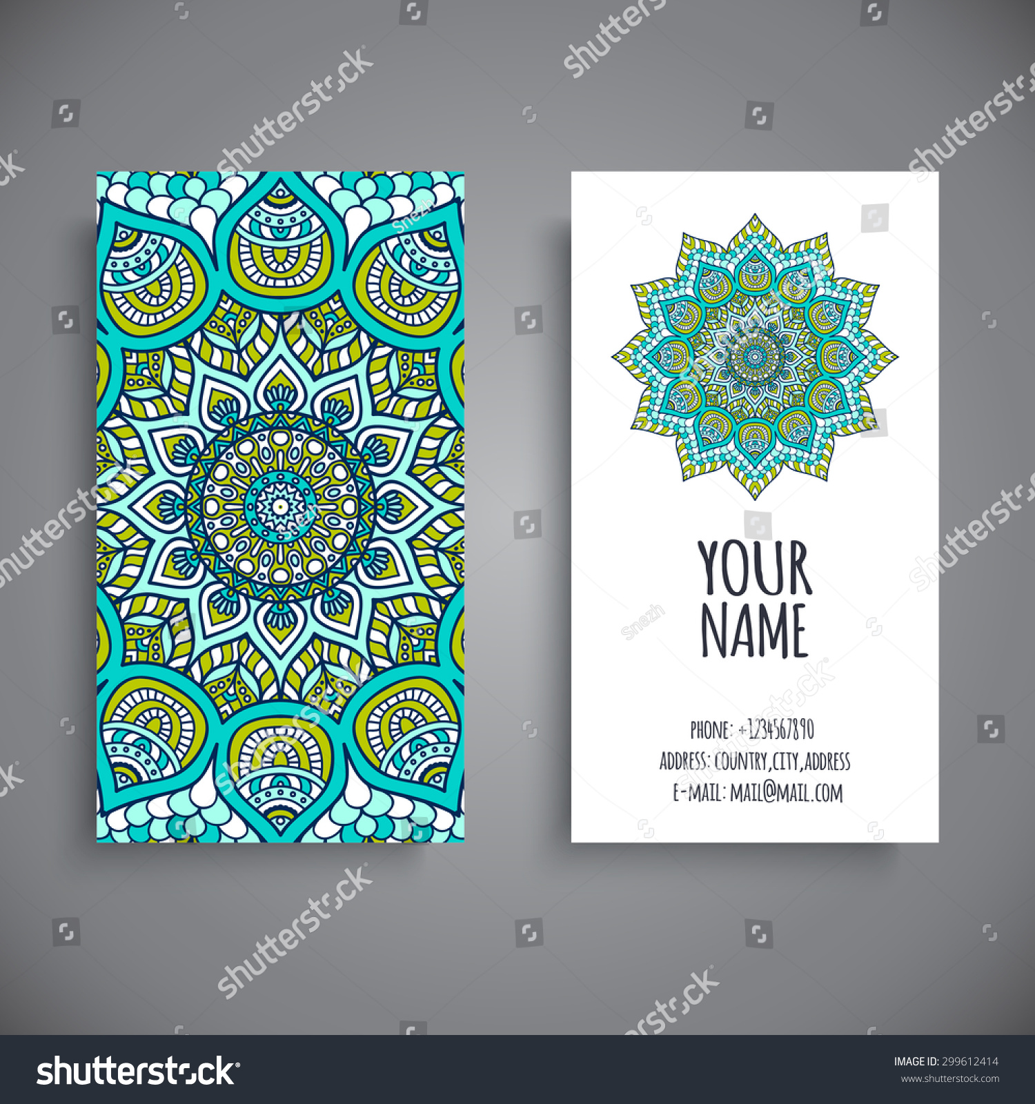 Business Card Vintage decorative elements Ornamental floral business cards oriental pattern vector illustration Islam Arabic Indian turkish pakistan chinese ottoman motifs
