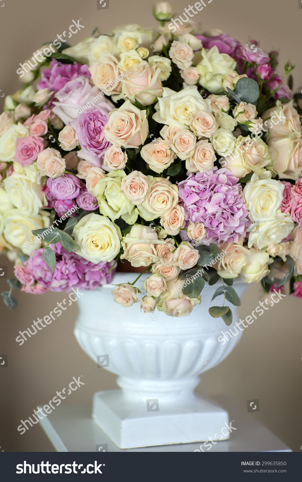 Decorate Wedding Bouquet Fresh Beautiful Flowers Stock Photo Edit