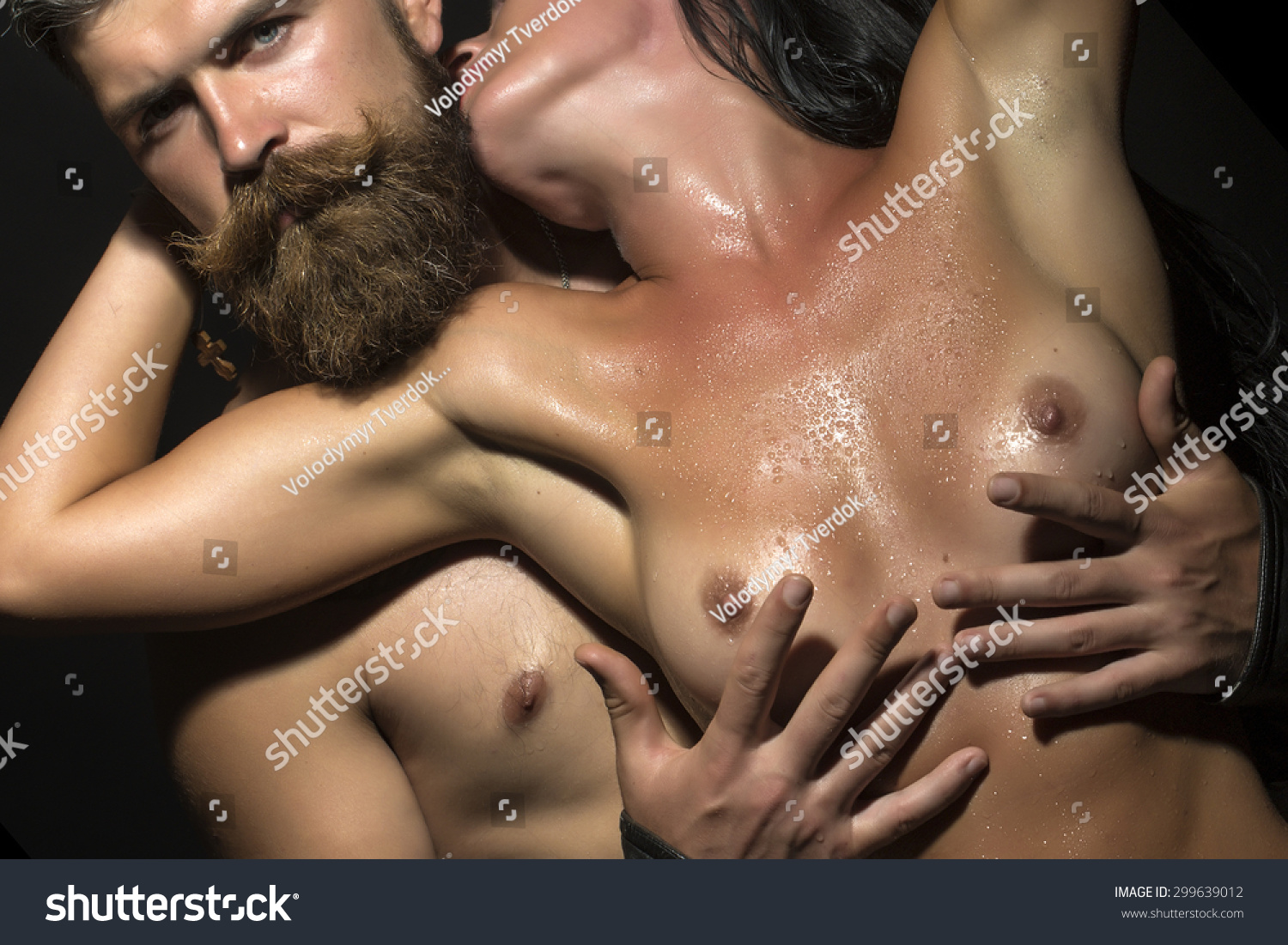 men rubbing womens breasts