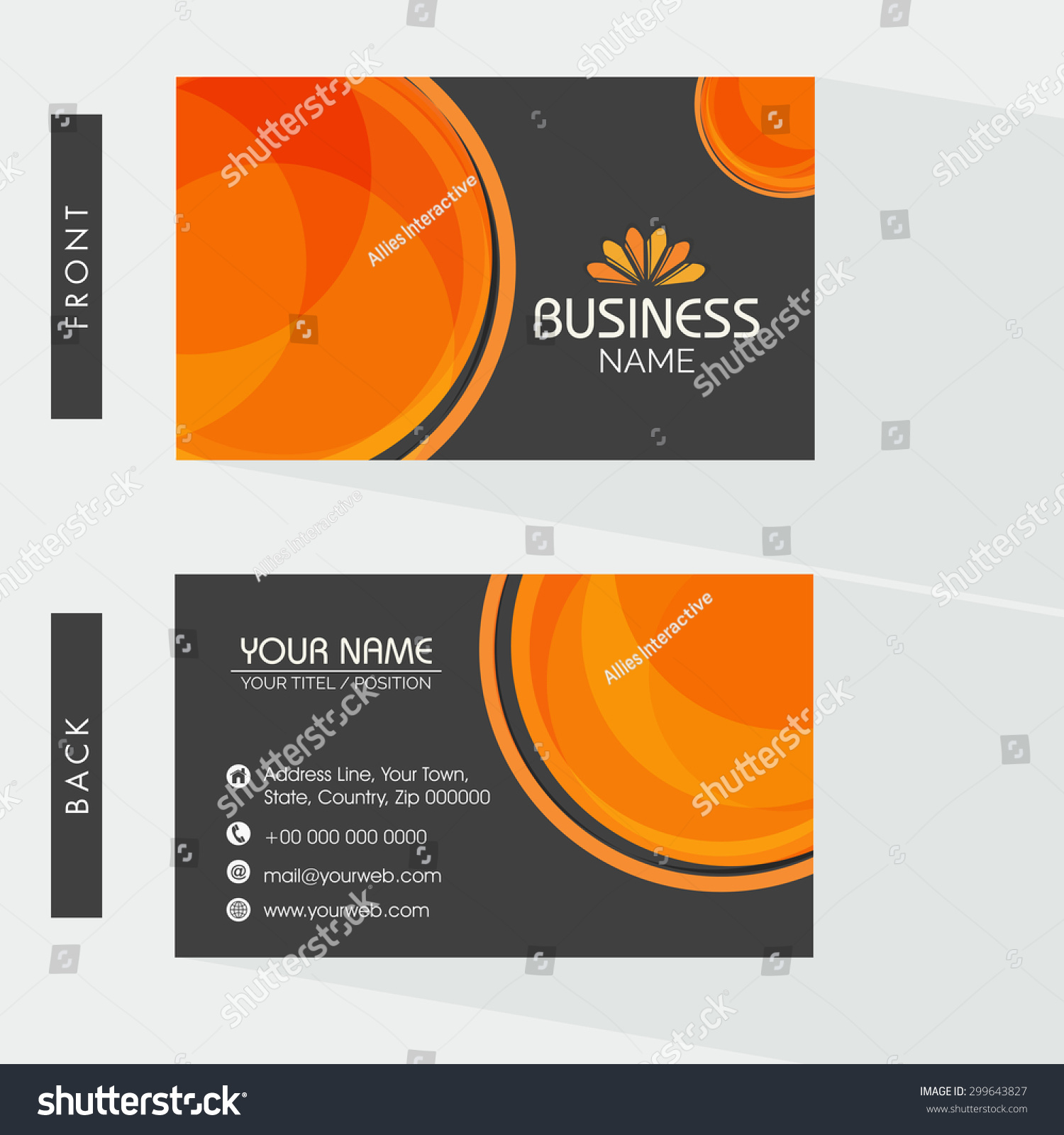 Creative Two Sided Business Card Design Stock Vector HD (Royalty ...