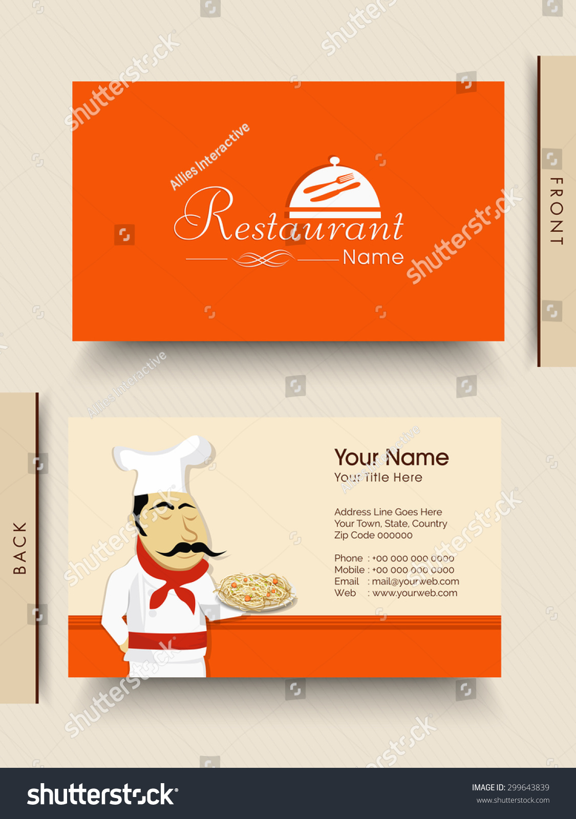 Stylish Business Visiting Card Design Illustration Stock Vector ...