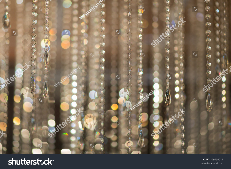 Blur Golden Bokeh Beautiful Crystal Stock Photo 299696015