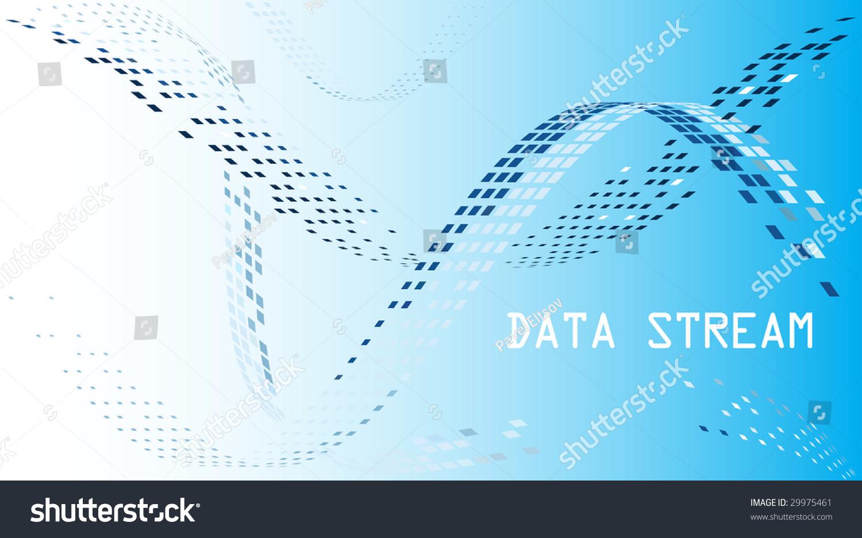 Data Stream Mosaic Background Stock Vector 29975461 - Shutterstock