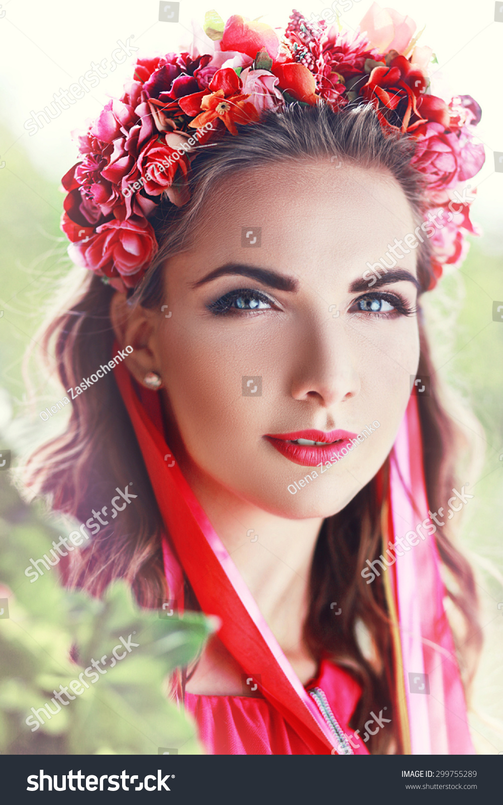 Beautiful Fairy Filtered Image Brunette Pretty Stock Photo Edit Now
