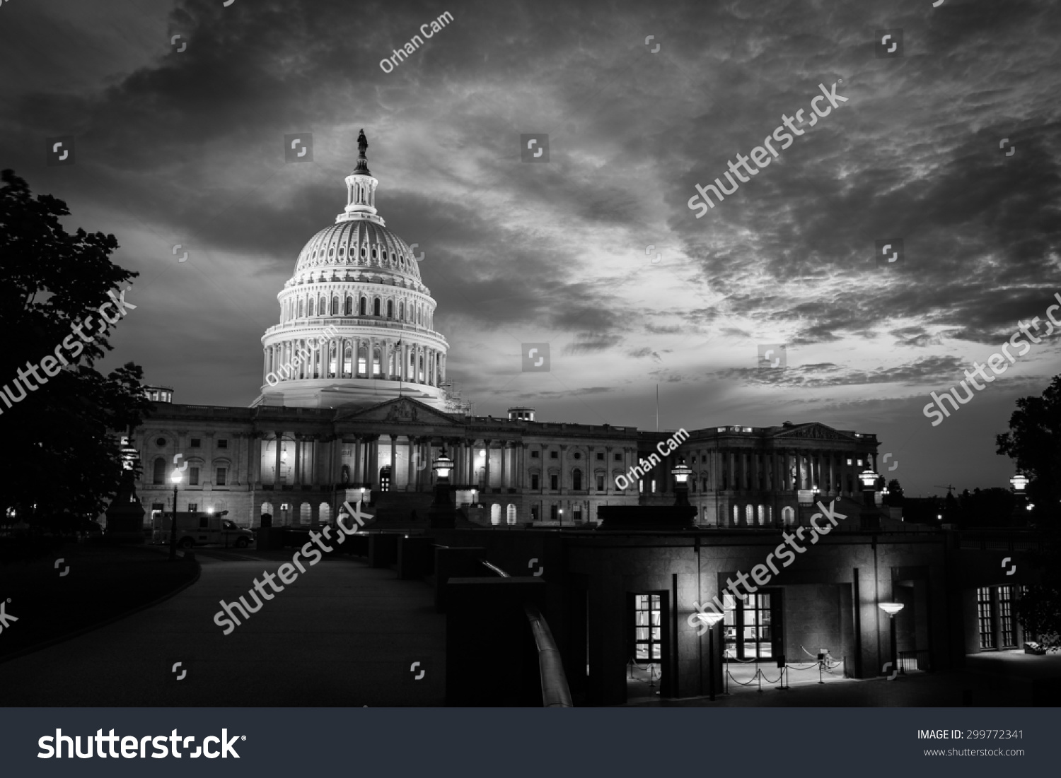 Capitol building night washington dc united stock photo for P kitchen dc united