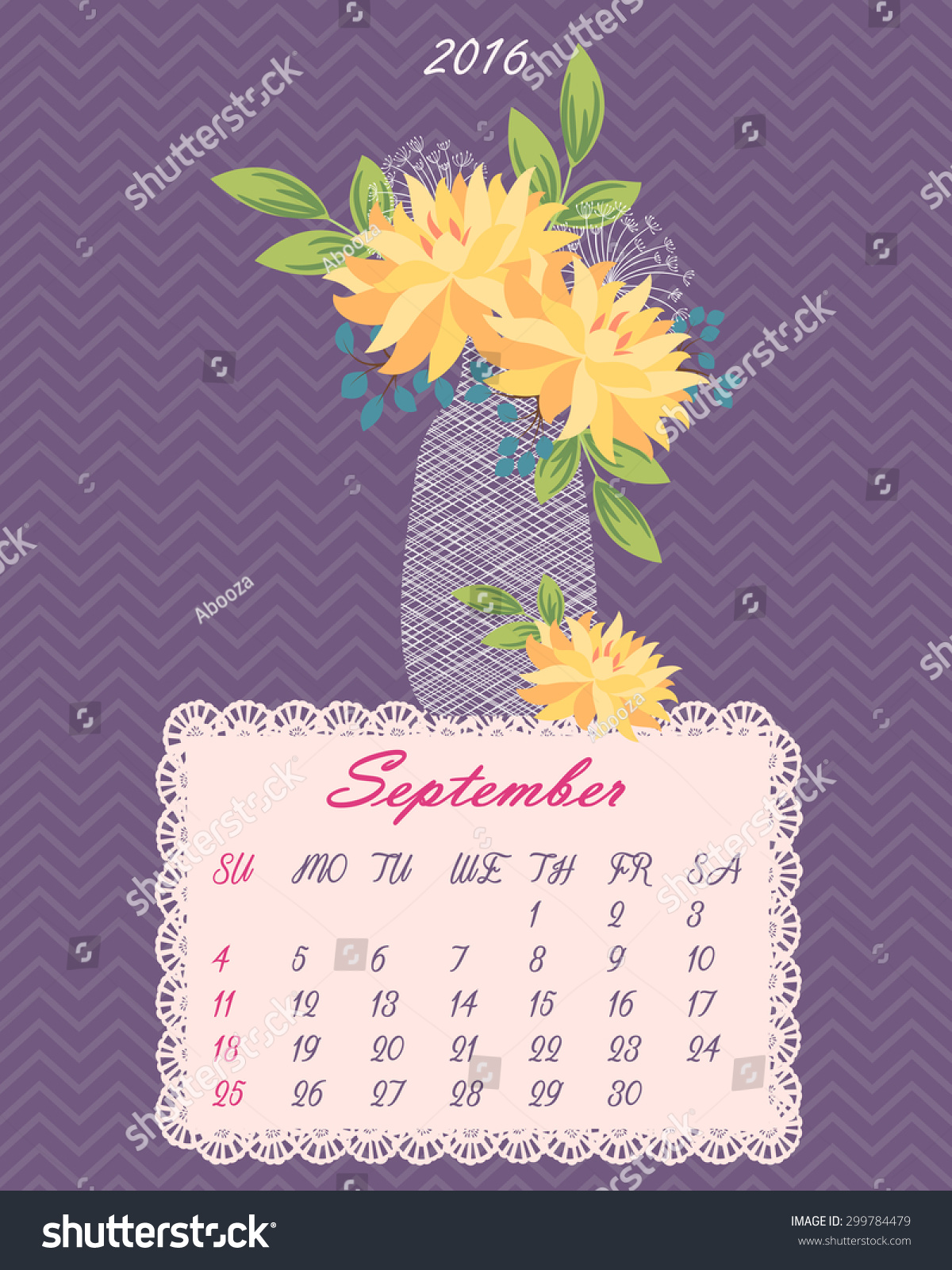 List floral calendar 2016 year flowers stock vector 299784479 list of floral calendar for 2016 year flowers in vase vector background izmirmasajfo Gallery