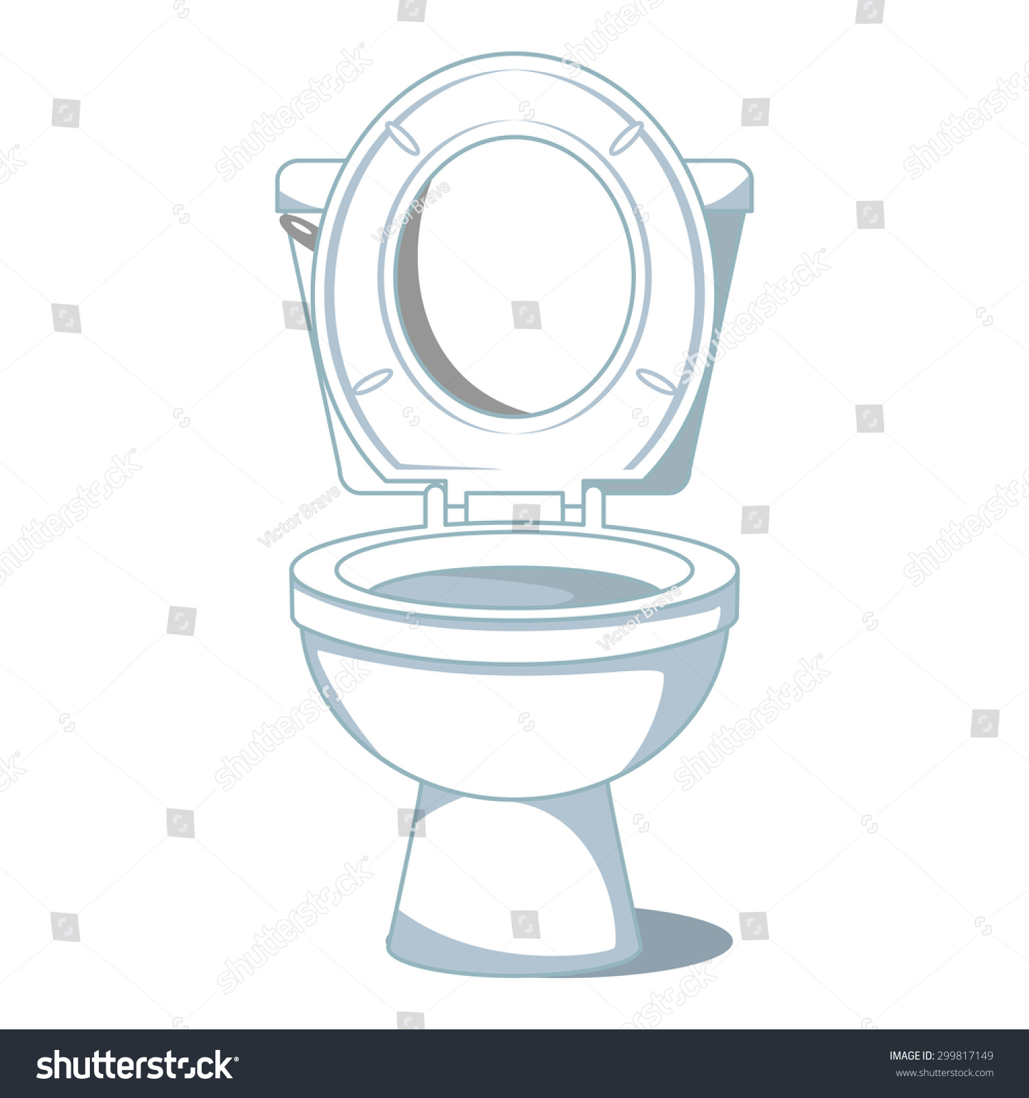 Toilet, Vector Illustration
