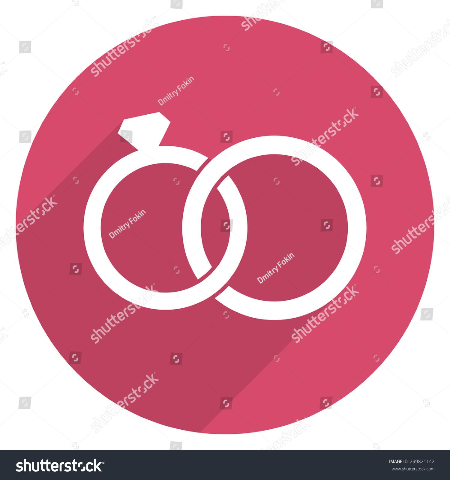 Wedding Rings Icon Modern Minimal Flat Stock Vector 299821142 ...