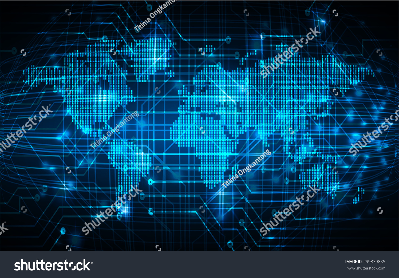 Dark blue color light abstract technology vectores en stock 299839835 shutterstock - World of color wallpaper ...