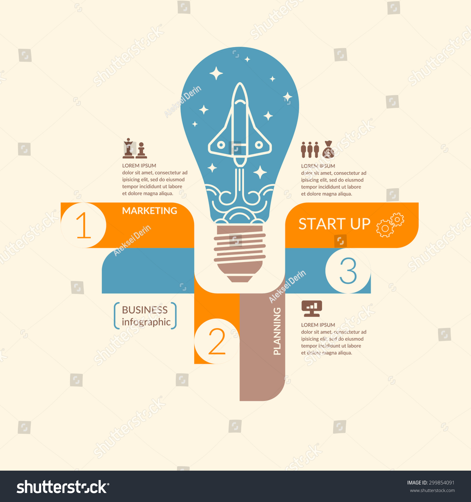 Start Up Business Infographics Icons Illustrations Stock Vector ...