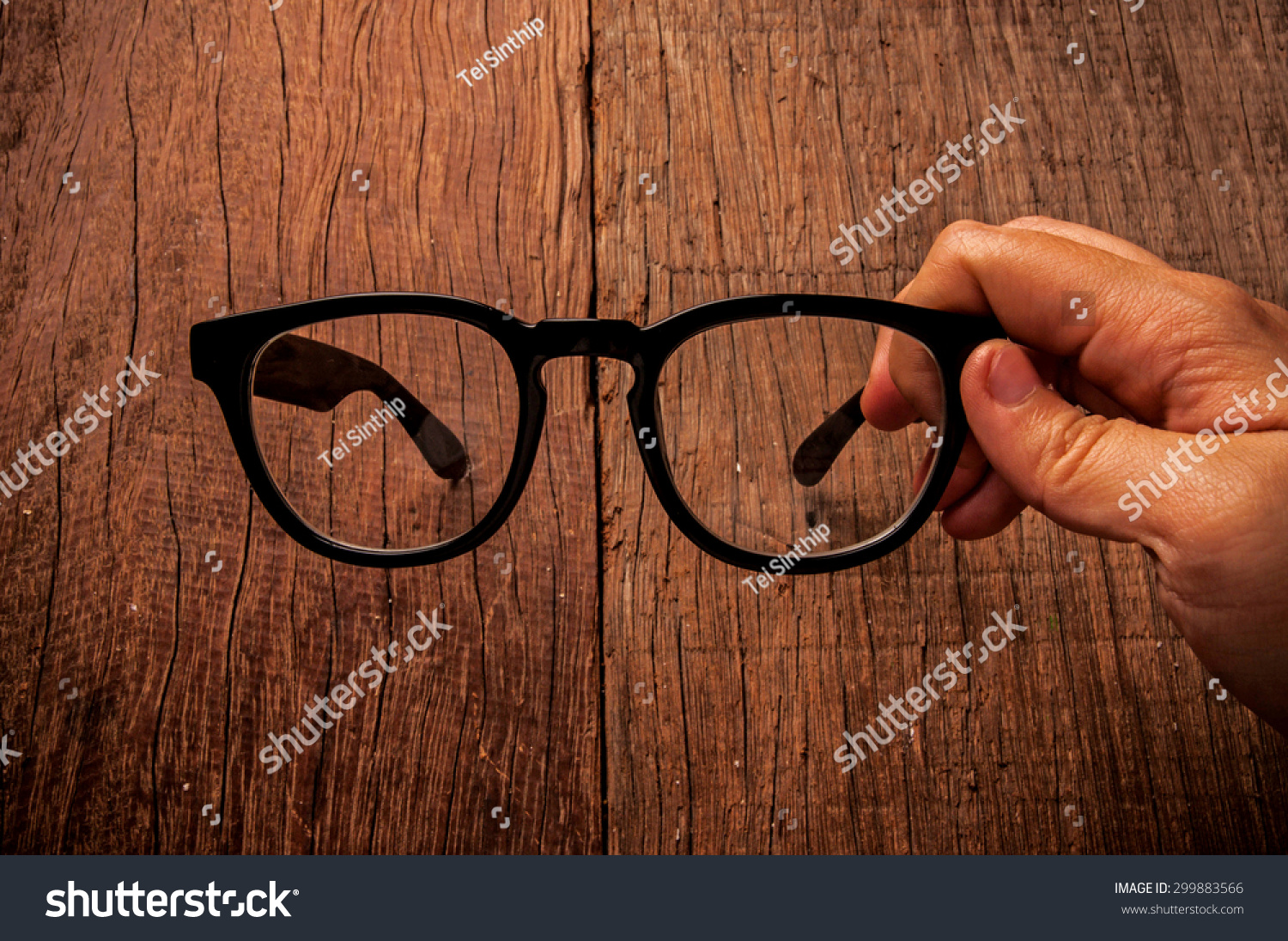 1204933d93 Eyeglasses Clear Glasses Black Frame Fashion Stock Photo (Edit Now ...