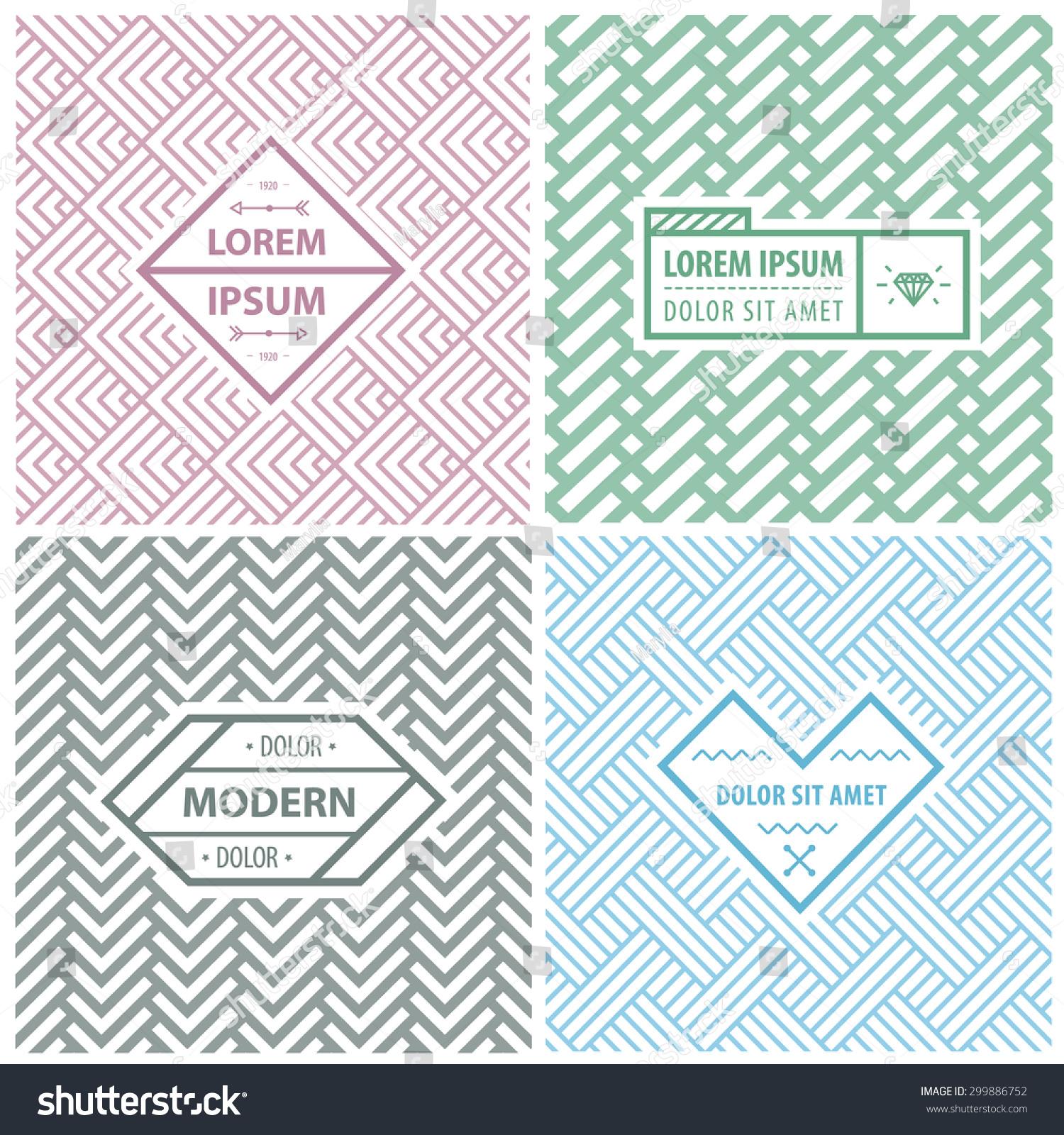 Line Graphic Design : Graphic design templates logo labels badges stock vector