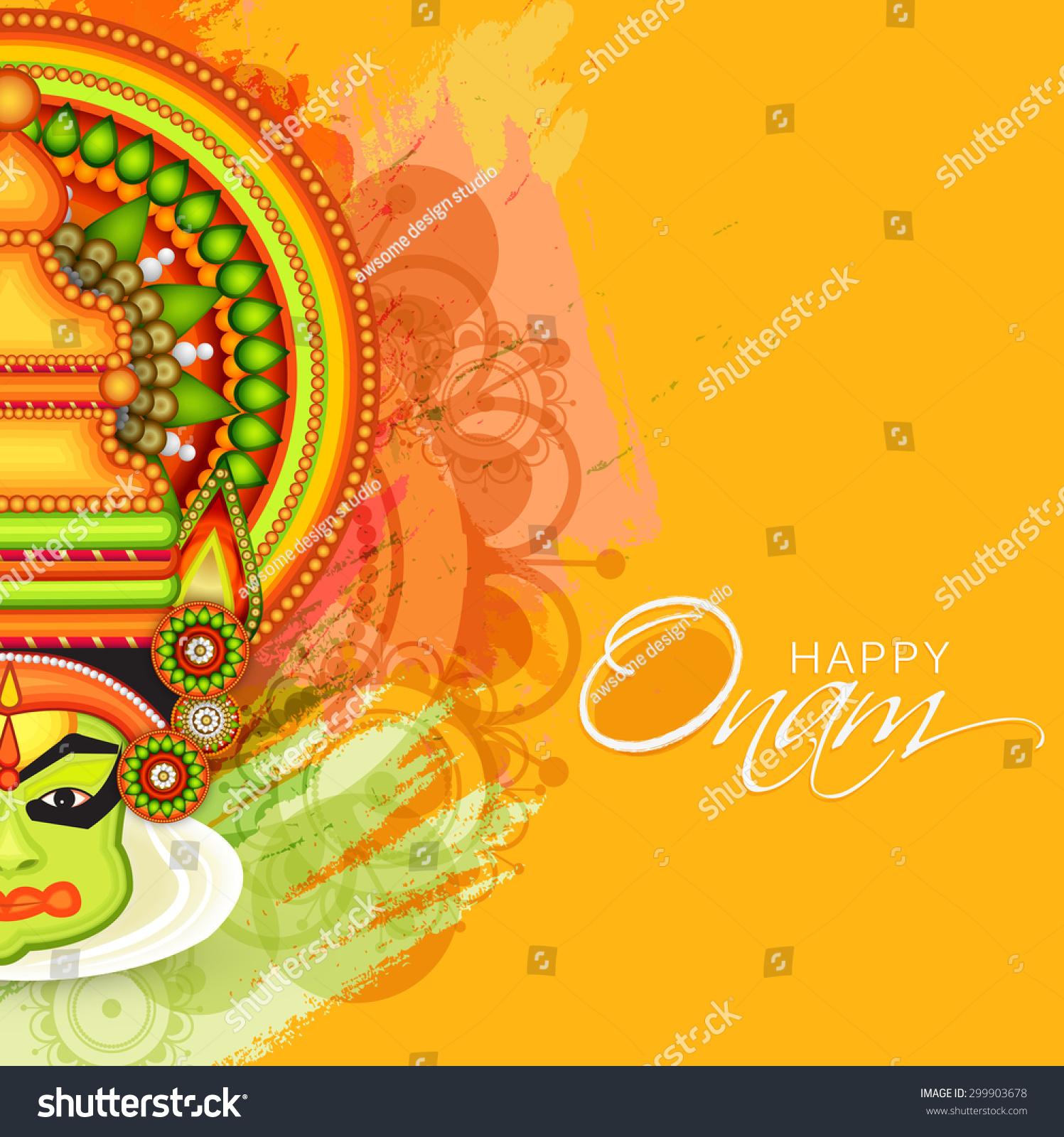 Vector Illustration Of Kathakali Face Art How To Draw