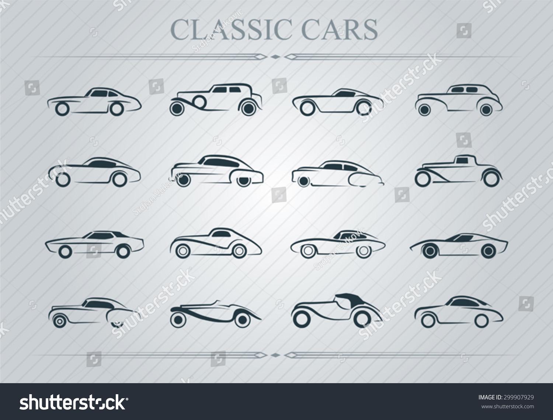 Classic Cars Logo Stock Vector Shutterstock