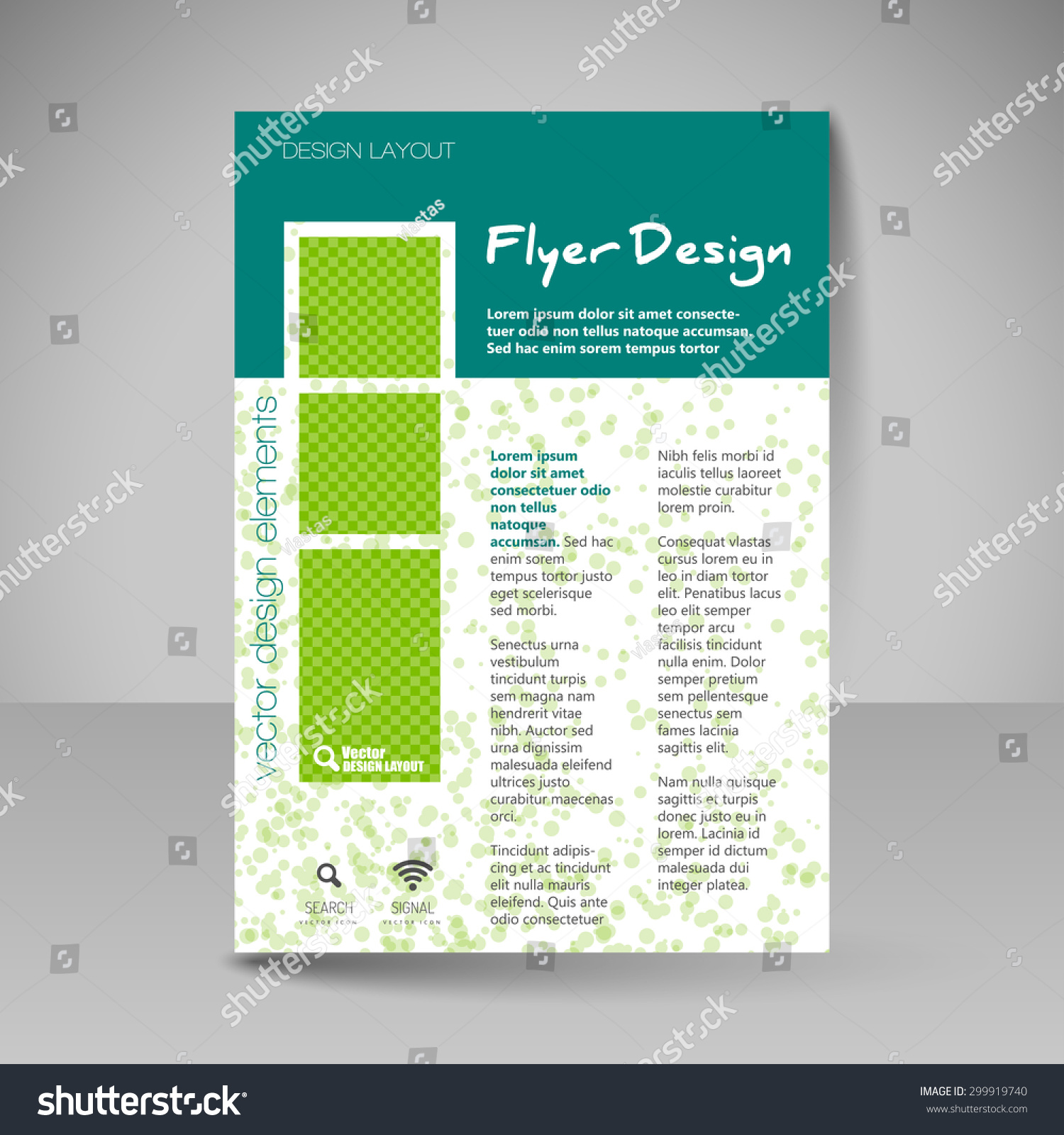 Template brochure flyer editable site business stock for Editable brochure templates