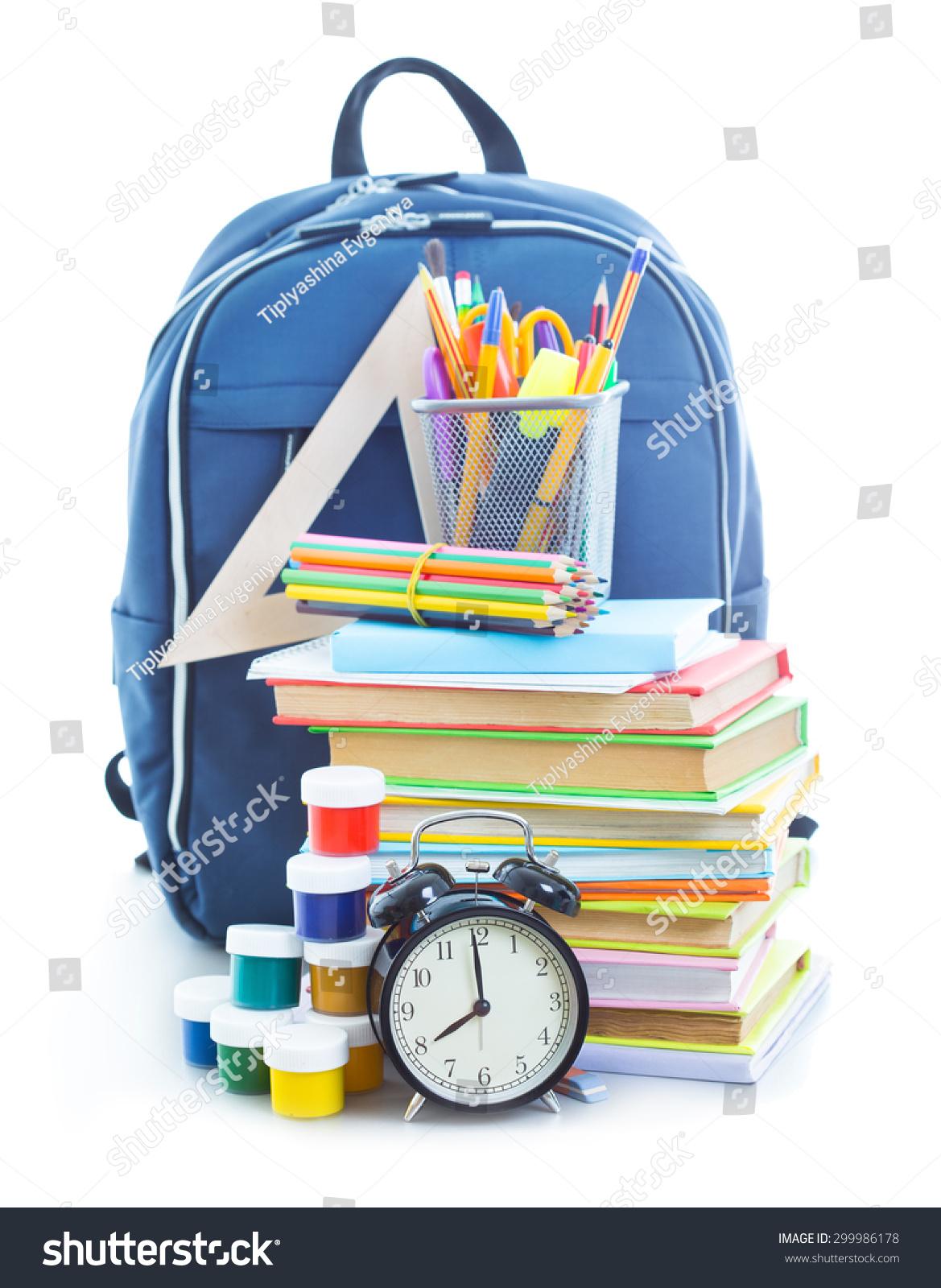 School bag diagram - School Bag With Things For School
