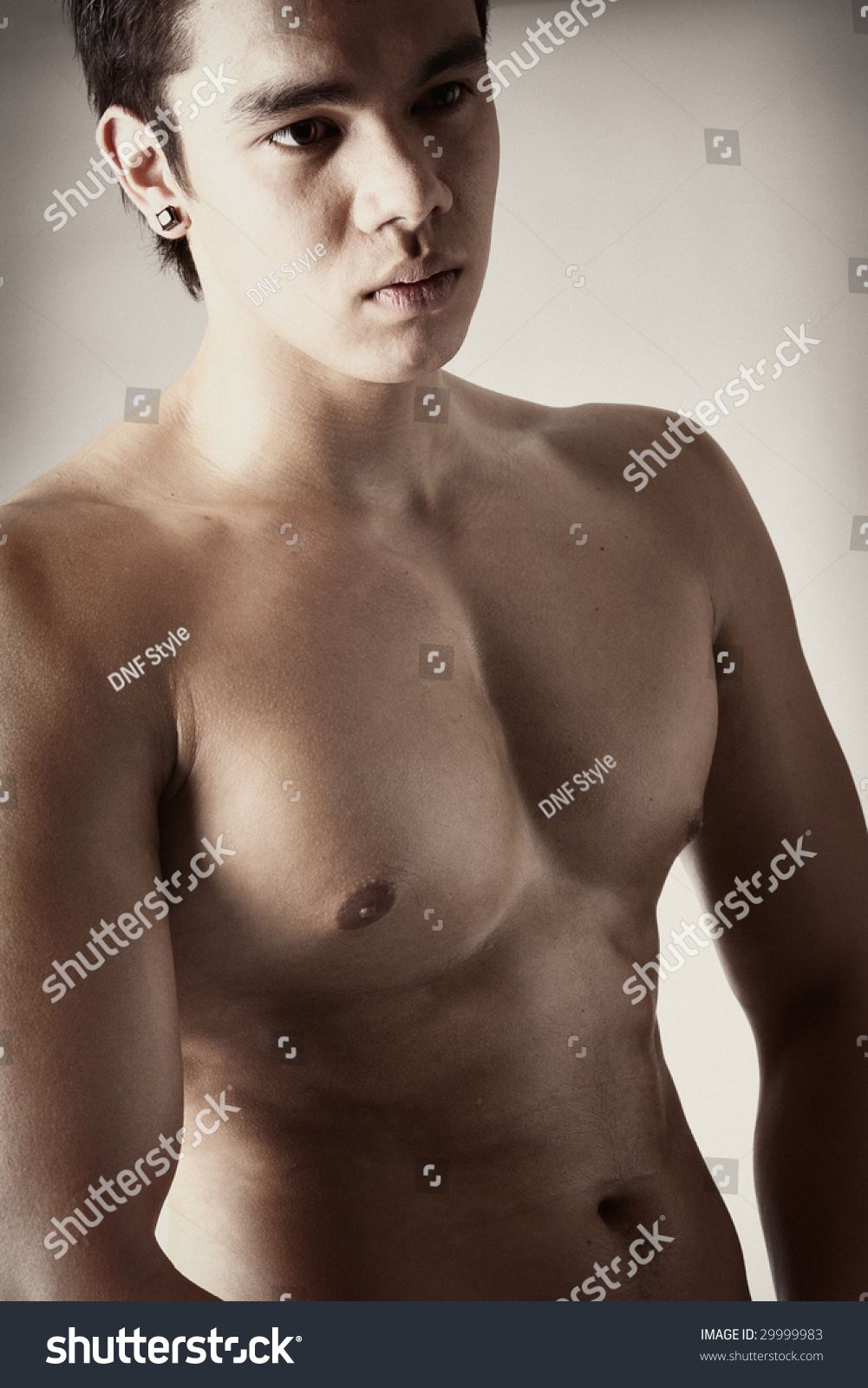 Portrait of a naked indonesian man