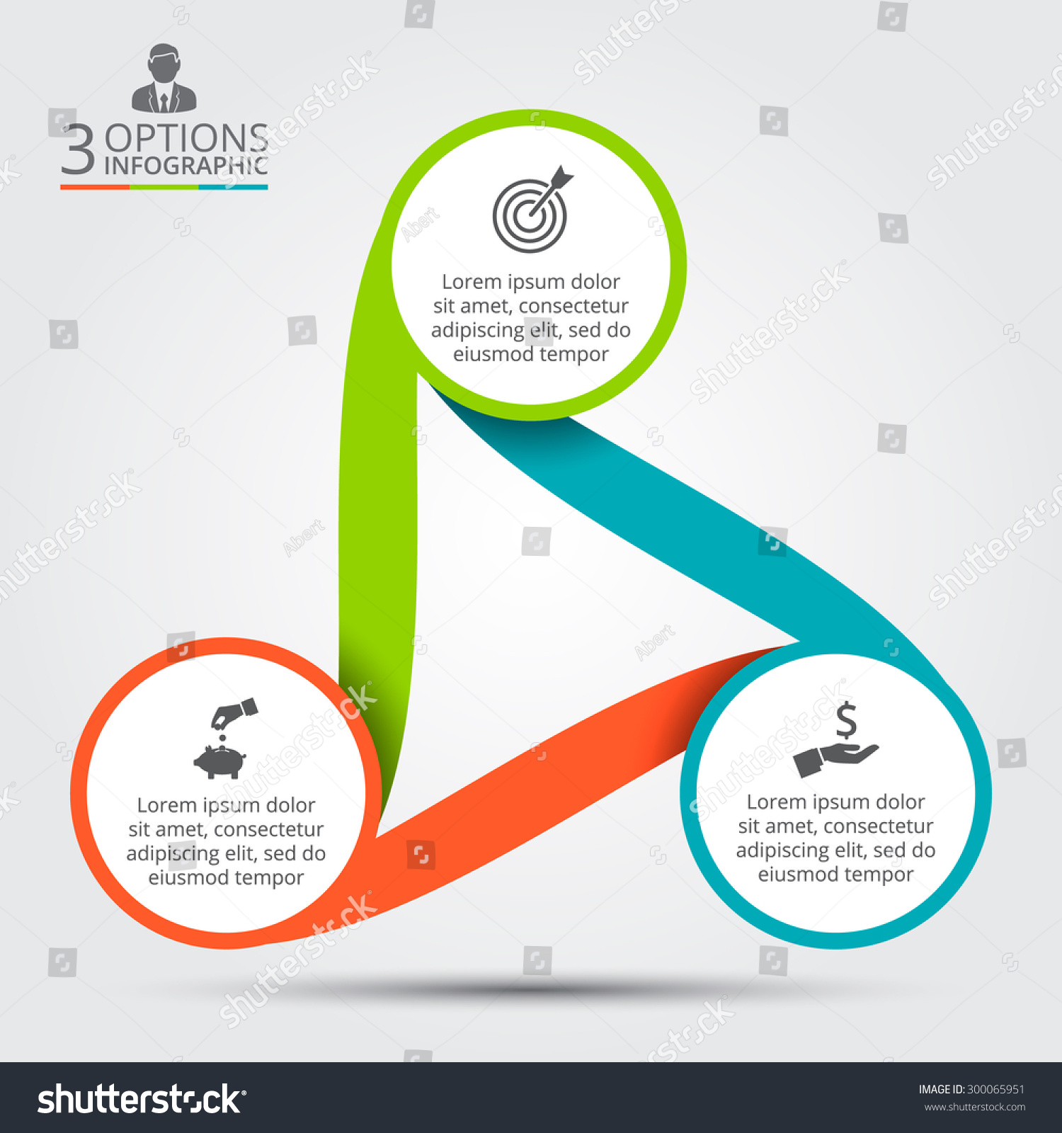 Vector Circle Infographic  Template For Cycle Diagram
