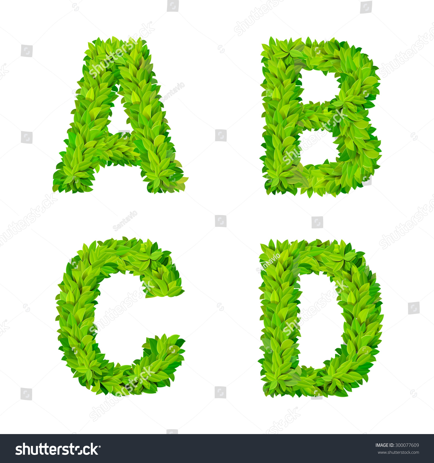 Worksheet A B C D In Vertical Letter abc glass leaves letter number elements stock vector 300077609 modern nature placard lettering leafy foliar deciduous set