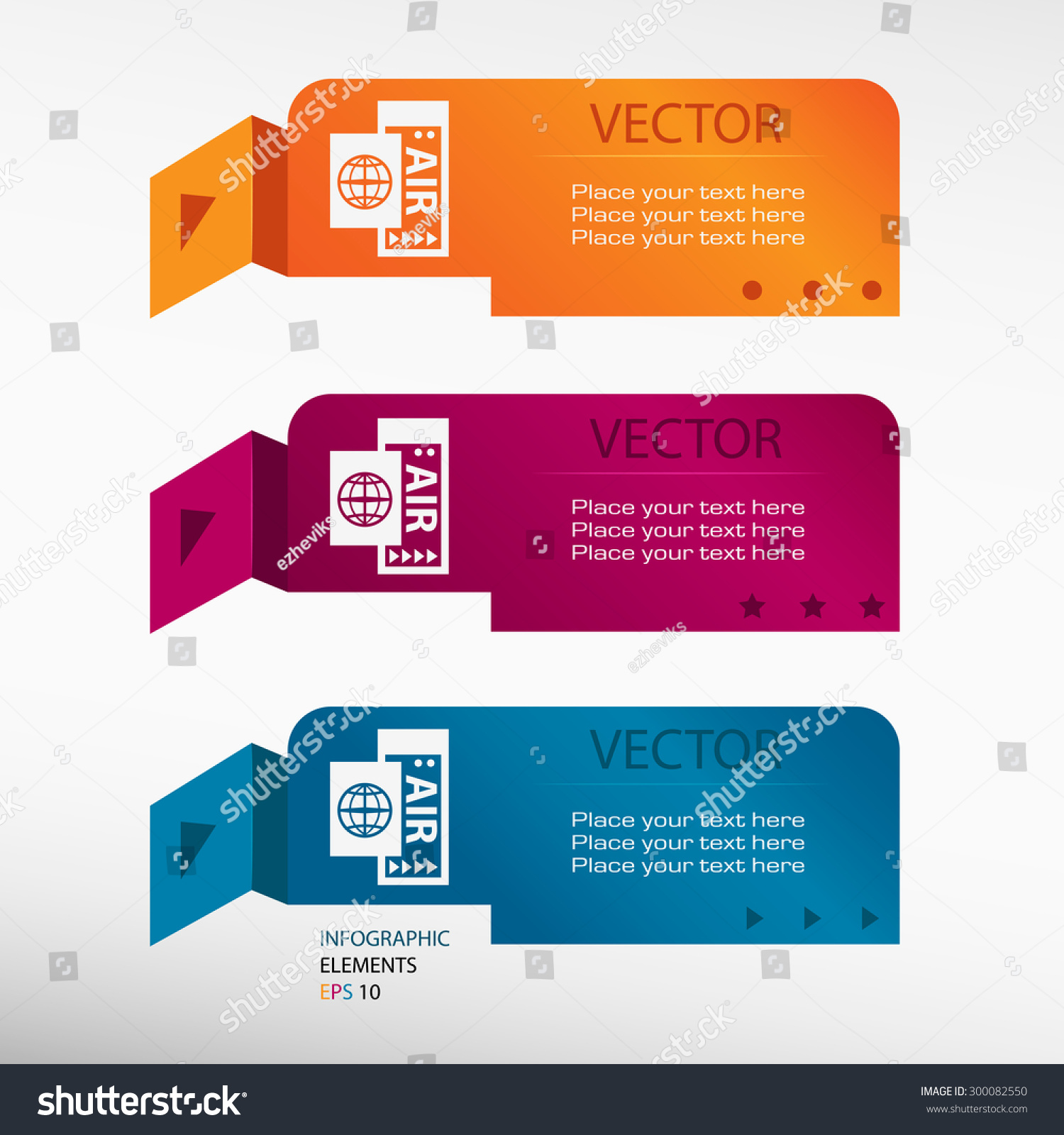 Airplane Ticket Icon On Origami Paper Stock Vector 300082550 ...