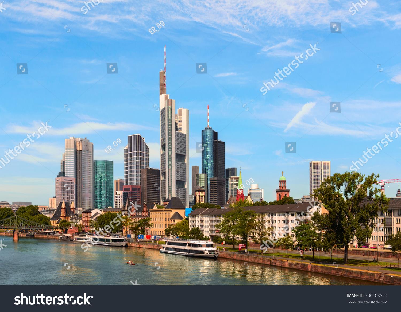 Frankfurt Am Main City With Retro Vintage Instagram Style Effect Stock ...