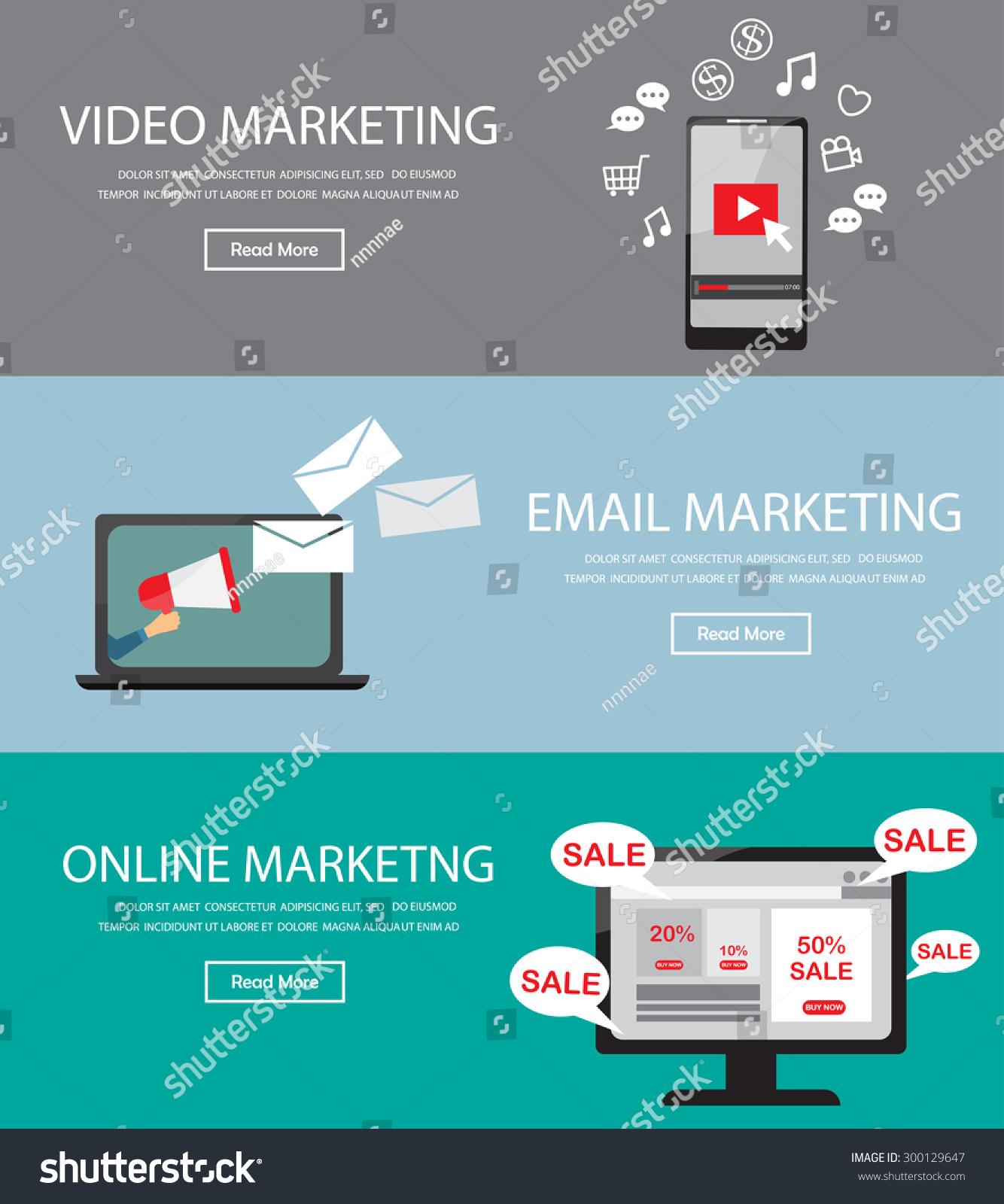 Online Digital Marketing Infographics Element Background Stock ...