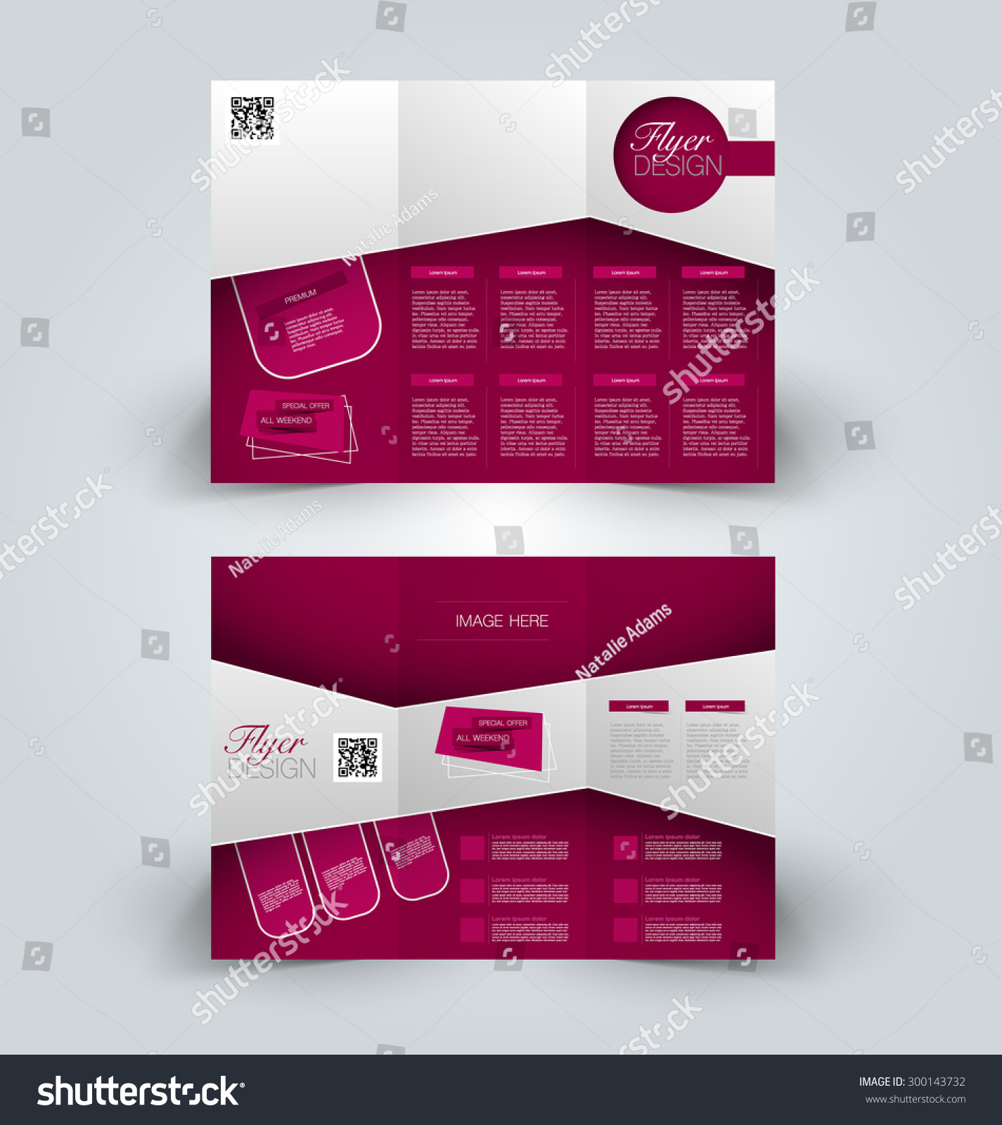 Brochure Mock Design Template Business Education Stock Vector ...