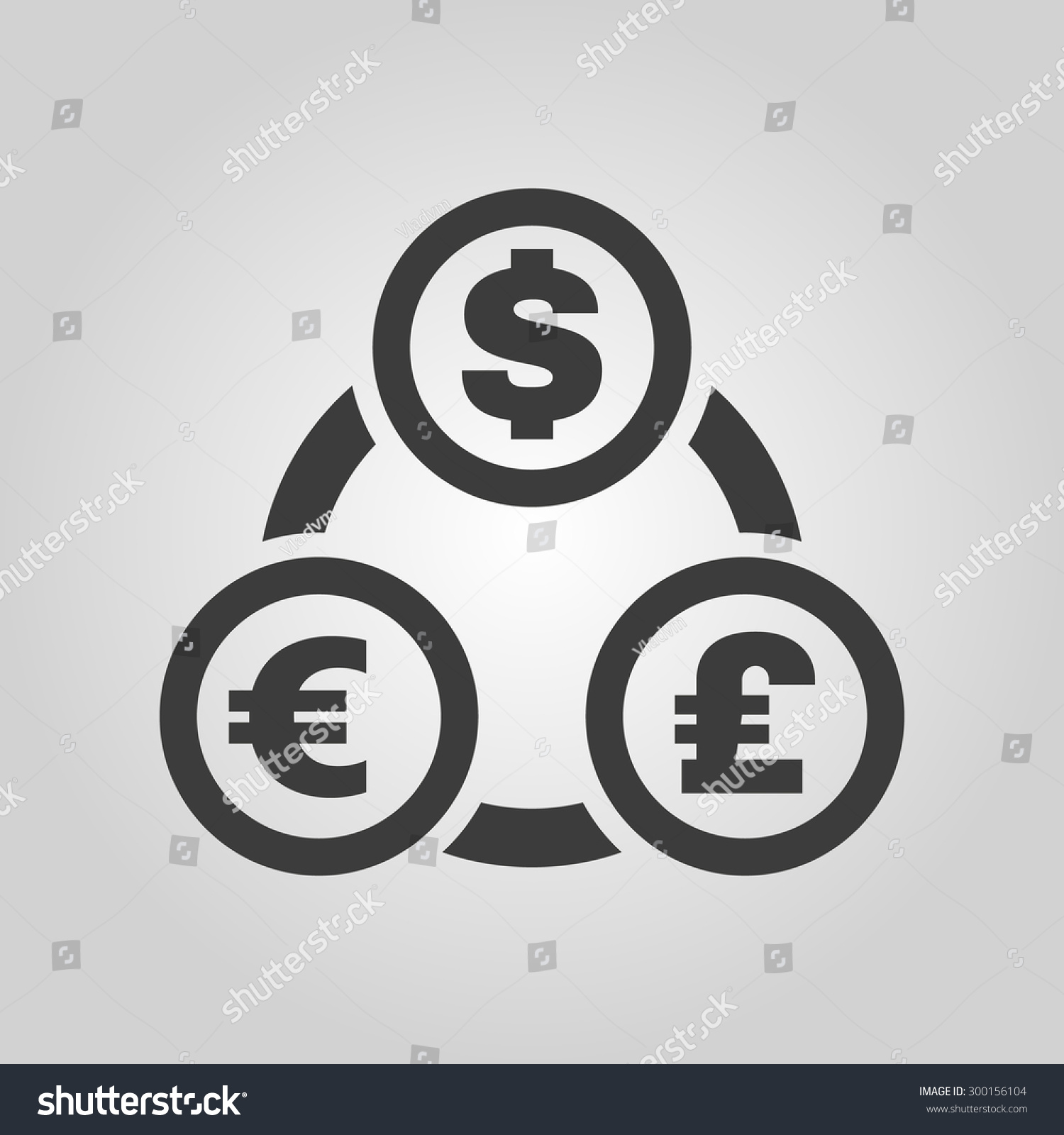 pic  stock vector the currency exchange dollar euro pound sterling icon cash and money wealth payment symbol