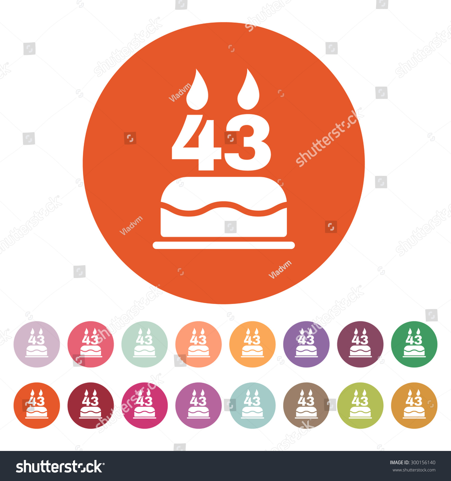 birthday-cake-with-candles-in-the-form-of-number-icon-birthday-symbol ...