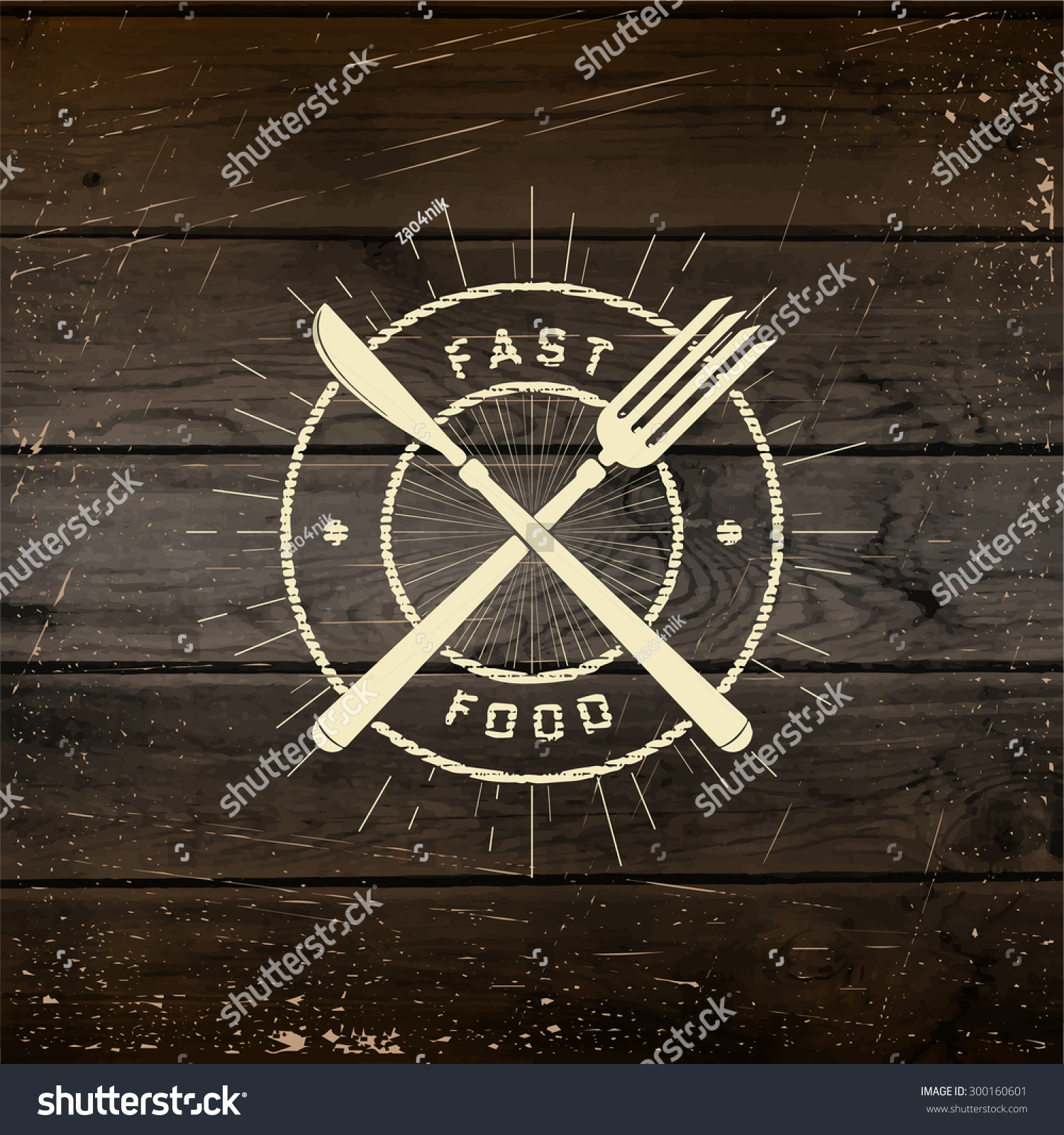 Fast Food Badges Logos Labels Can Stock Vector