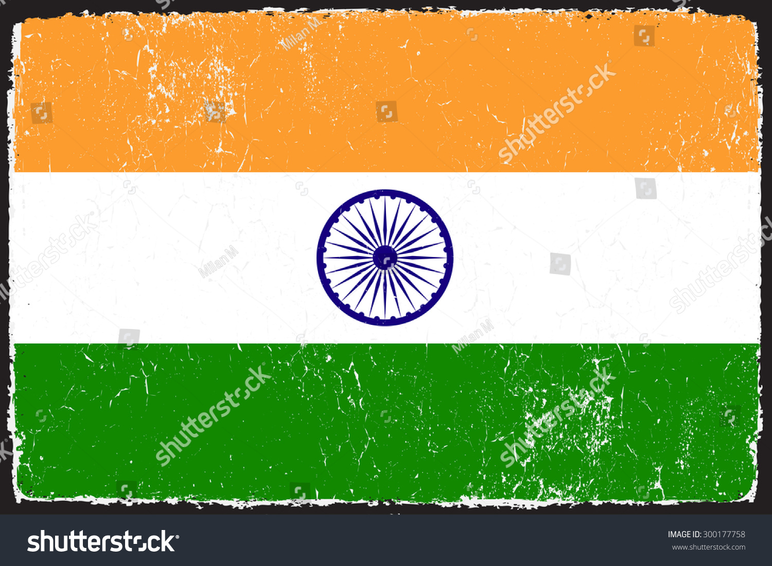 Grunge India Flag Indian Flag Grunge Texture Vector Stock Vector ...